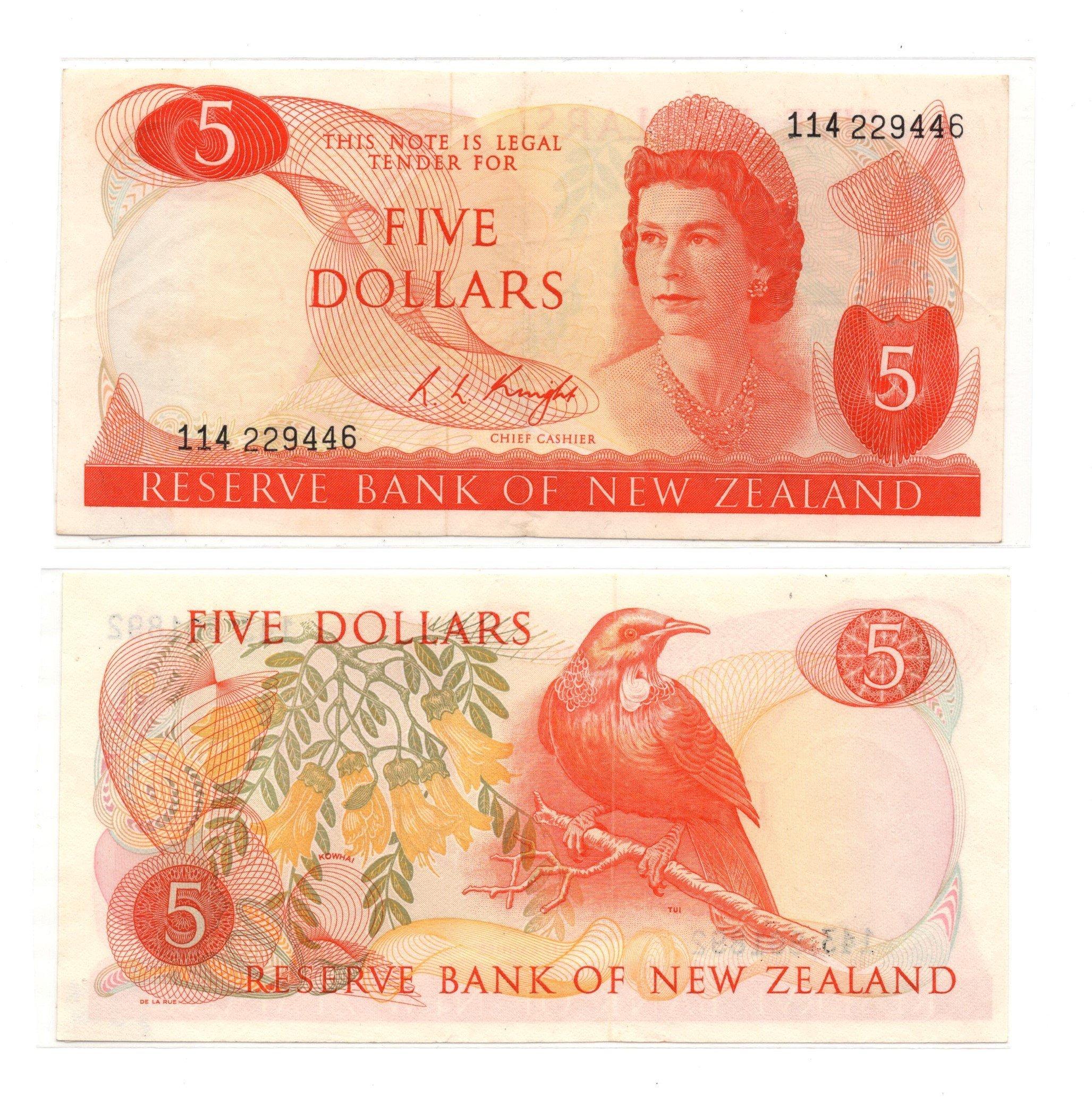 NZ 5 dollars