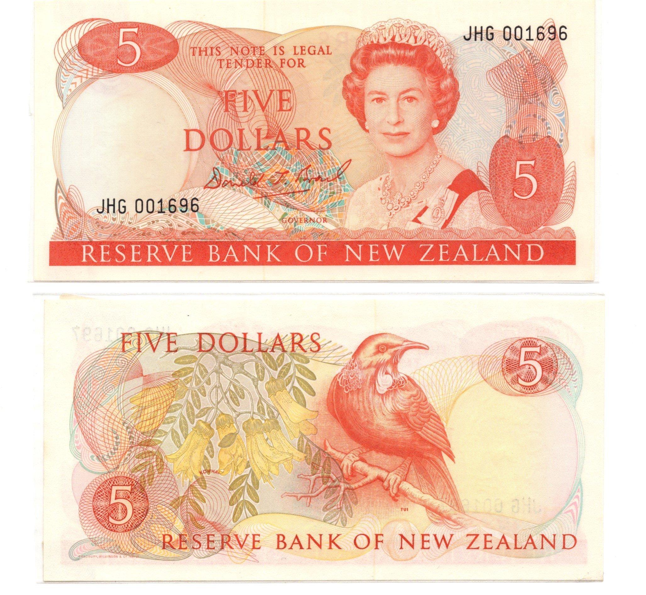 NZ 5 dollars brash