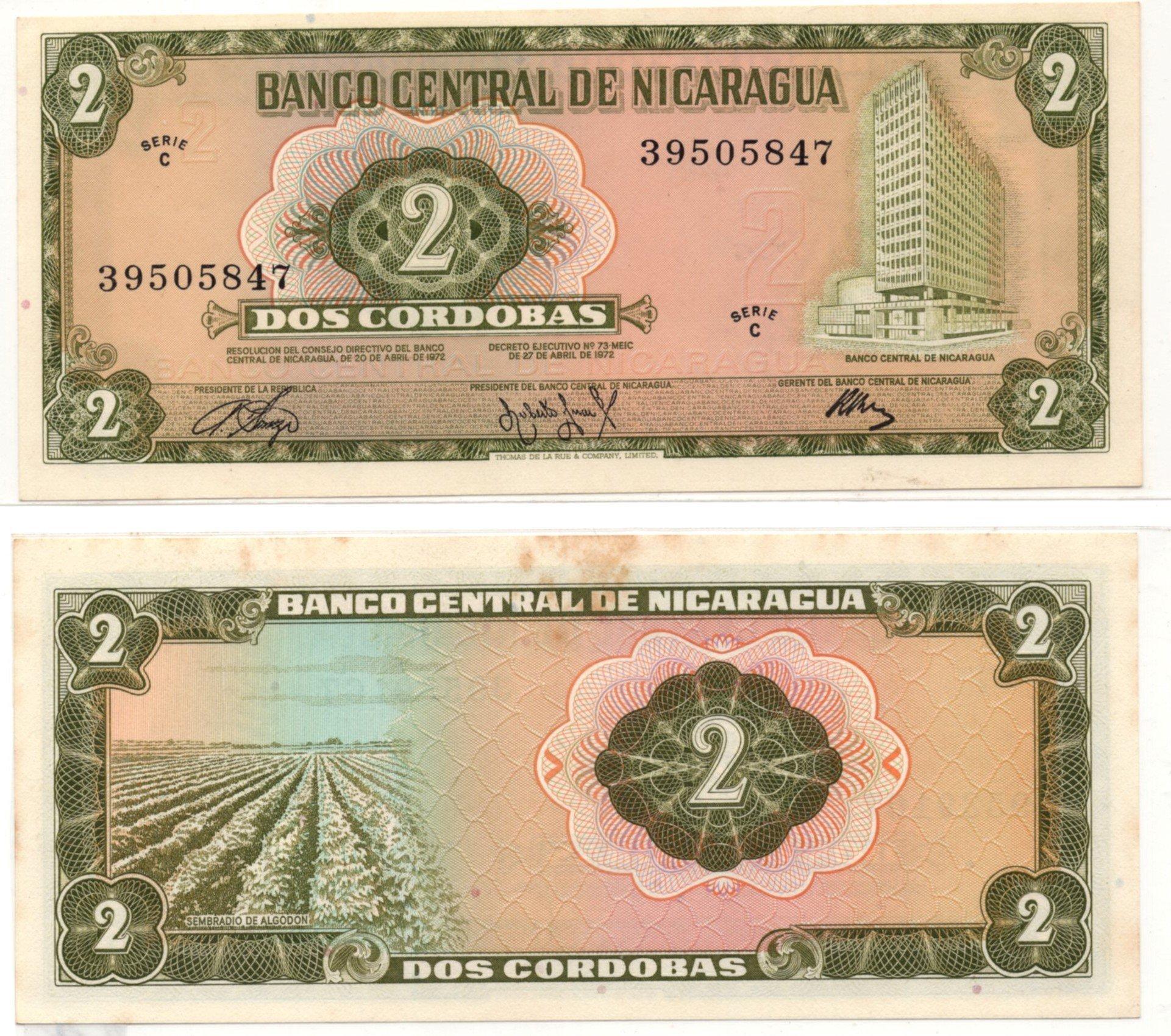 nicaragua 2 cordobas