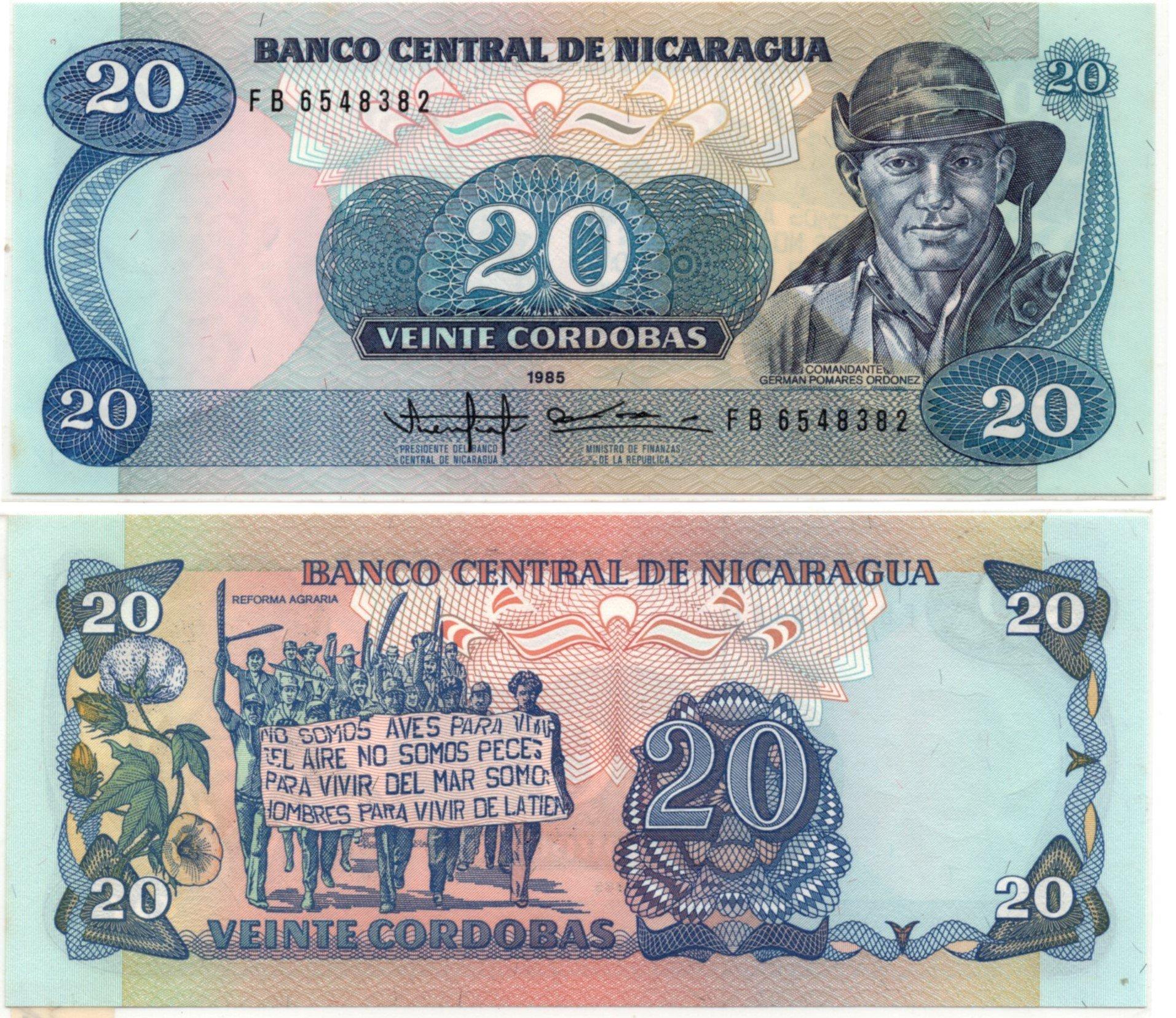 nicaragua 20 cordoba