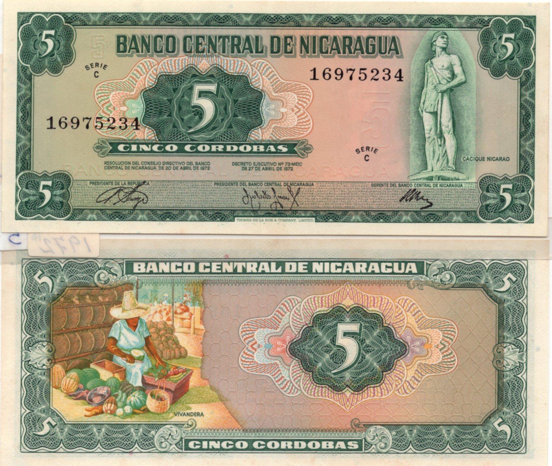 nicaragua 5 cordobas