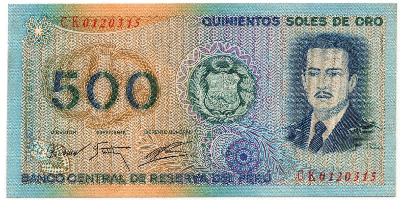 peru 500 soles 1976