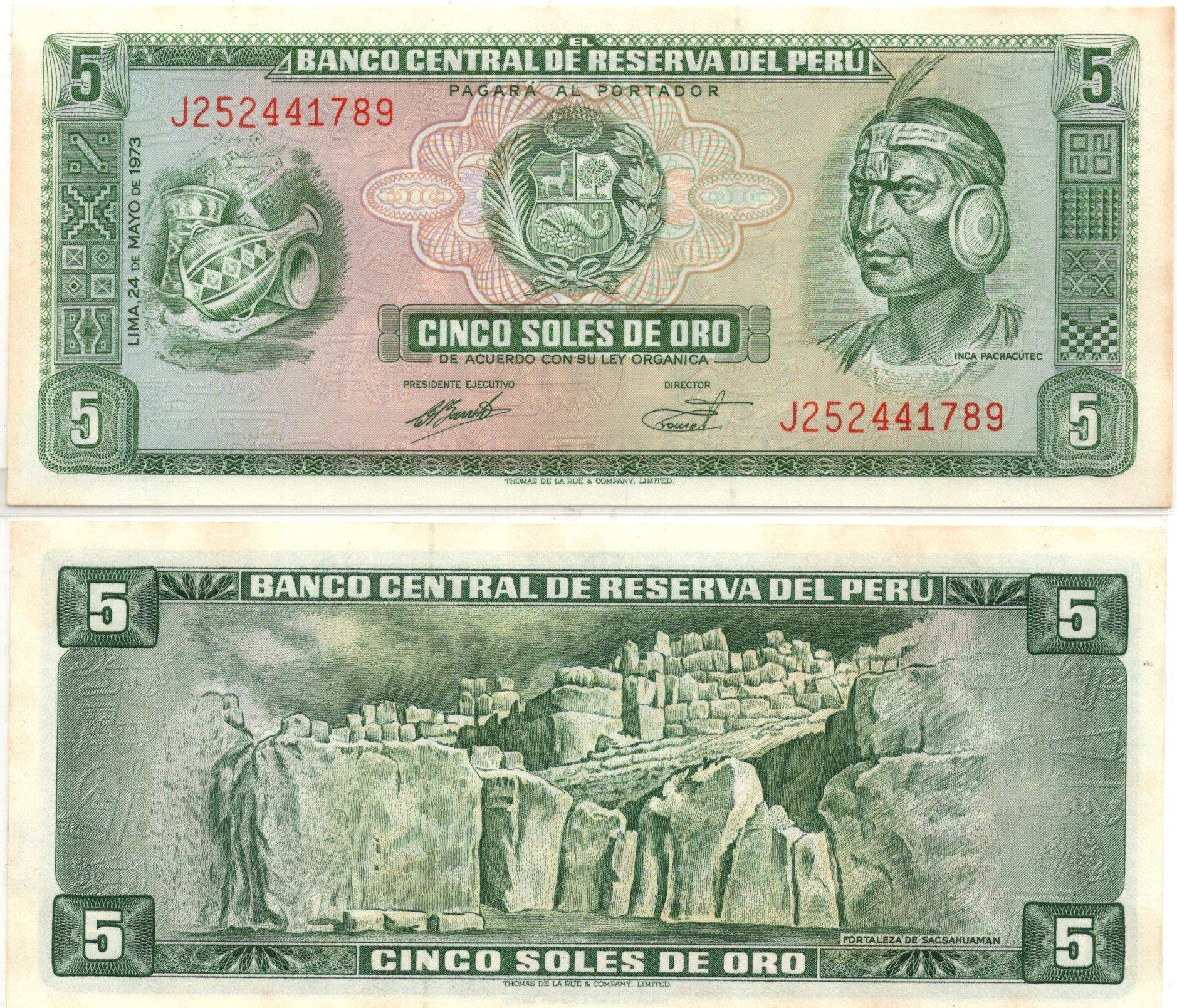 peru 5 soles 1973