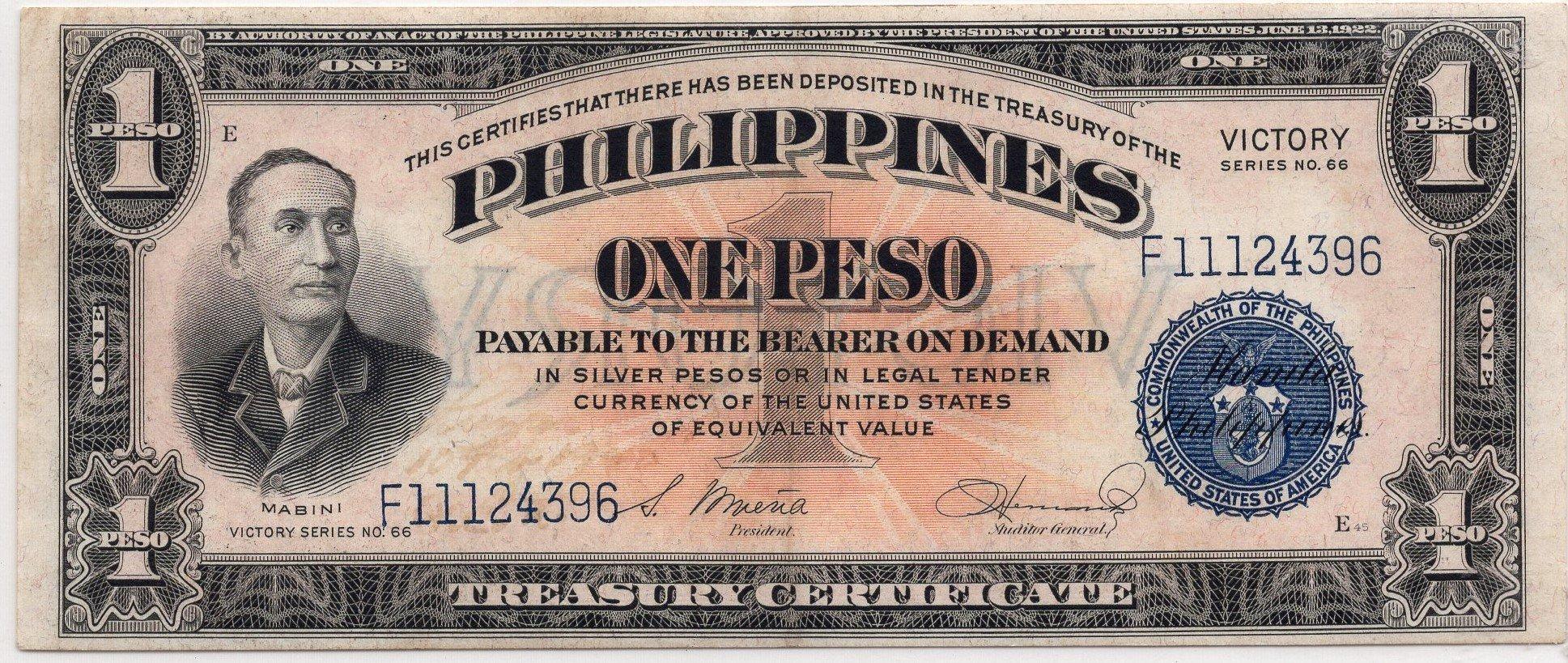 philipines 1 peso victory