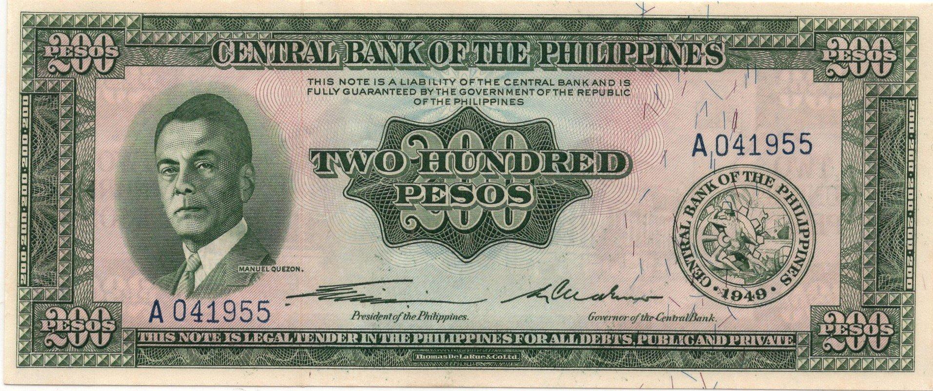 philipines 200 pesos 1949