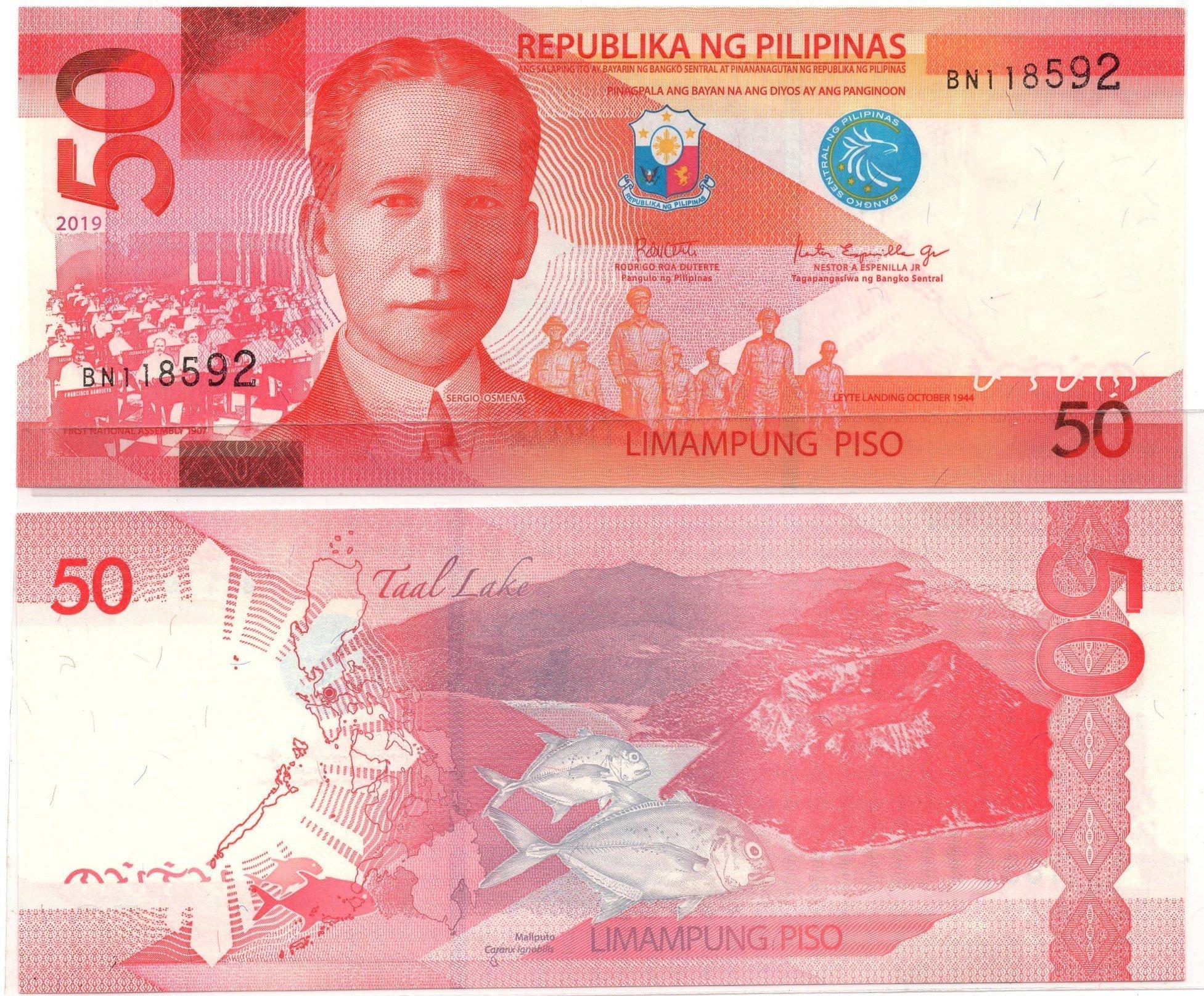 philipines 50 pesos 2019