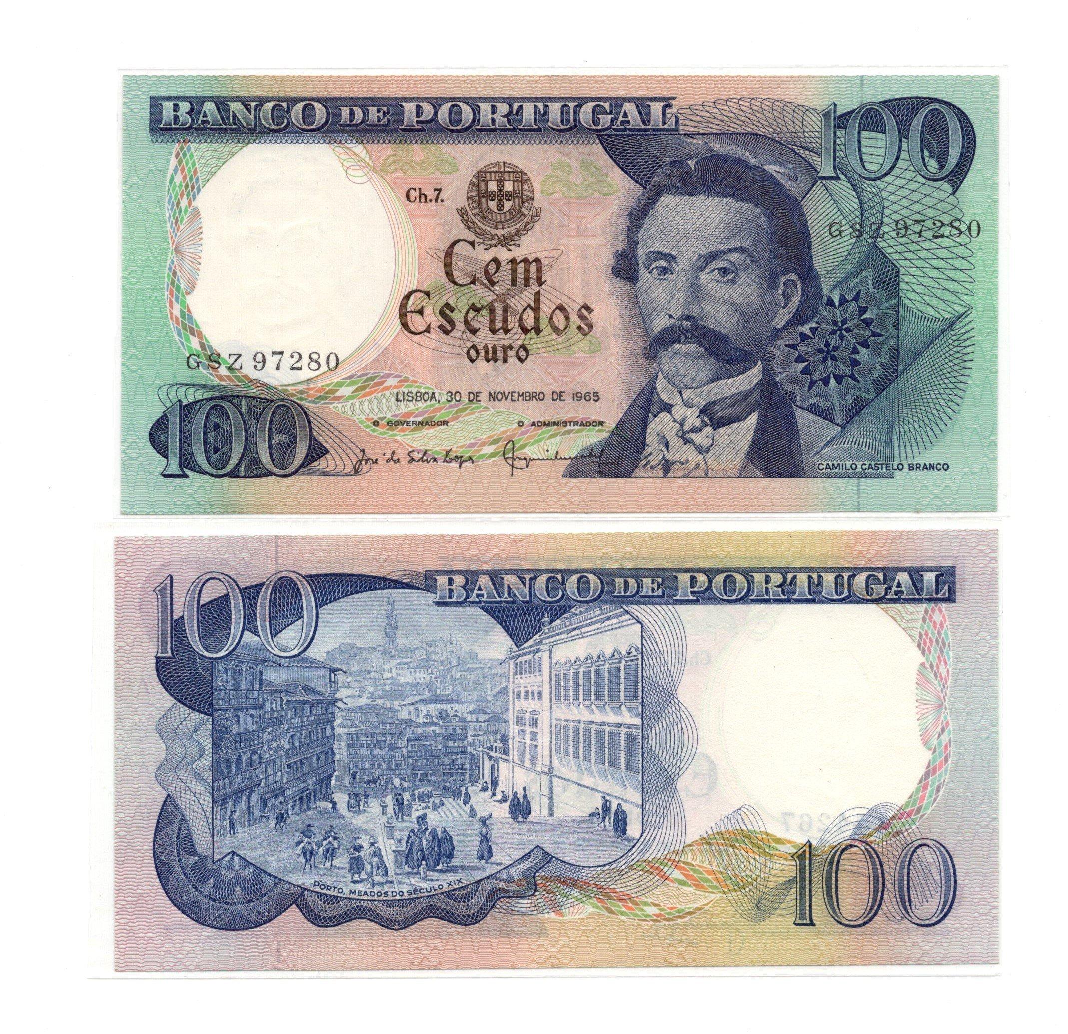 portugal 100 escudos 1965
