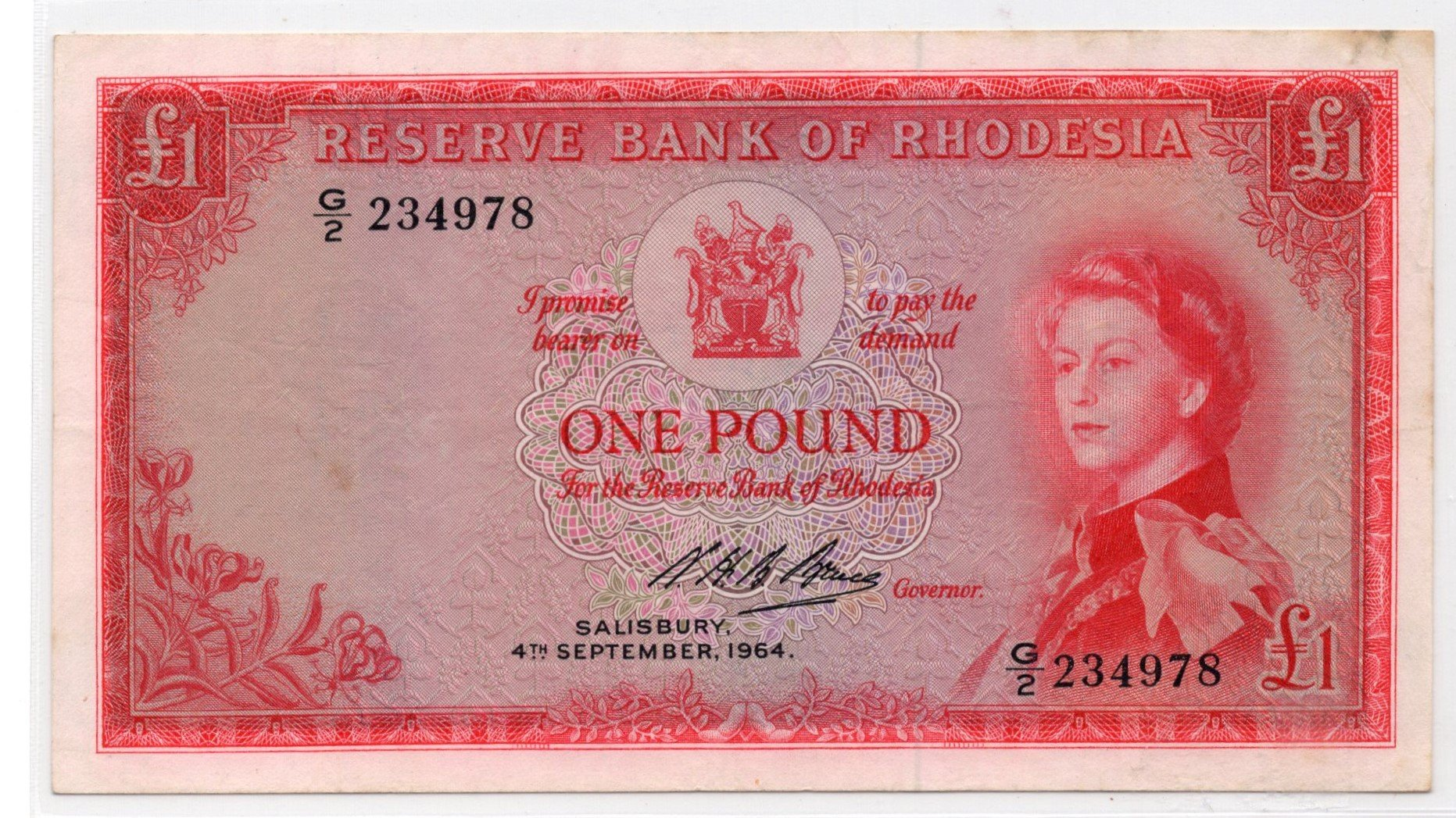 rhodesia 1 pound 1964
