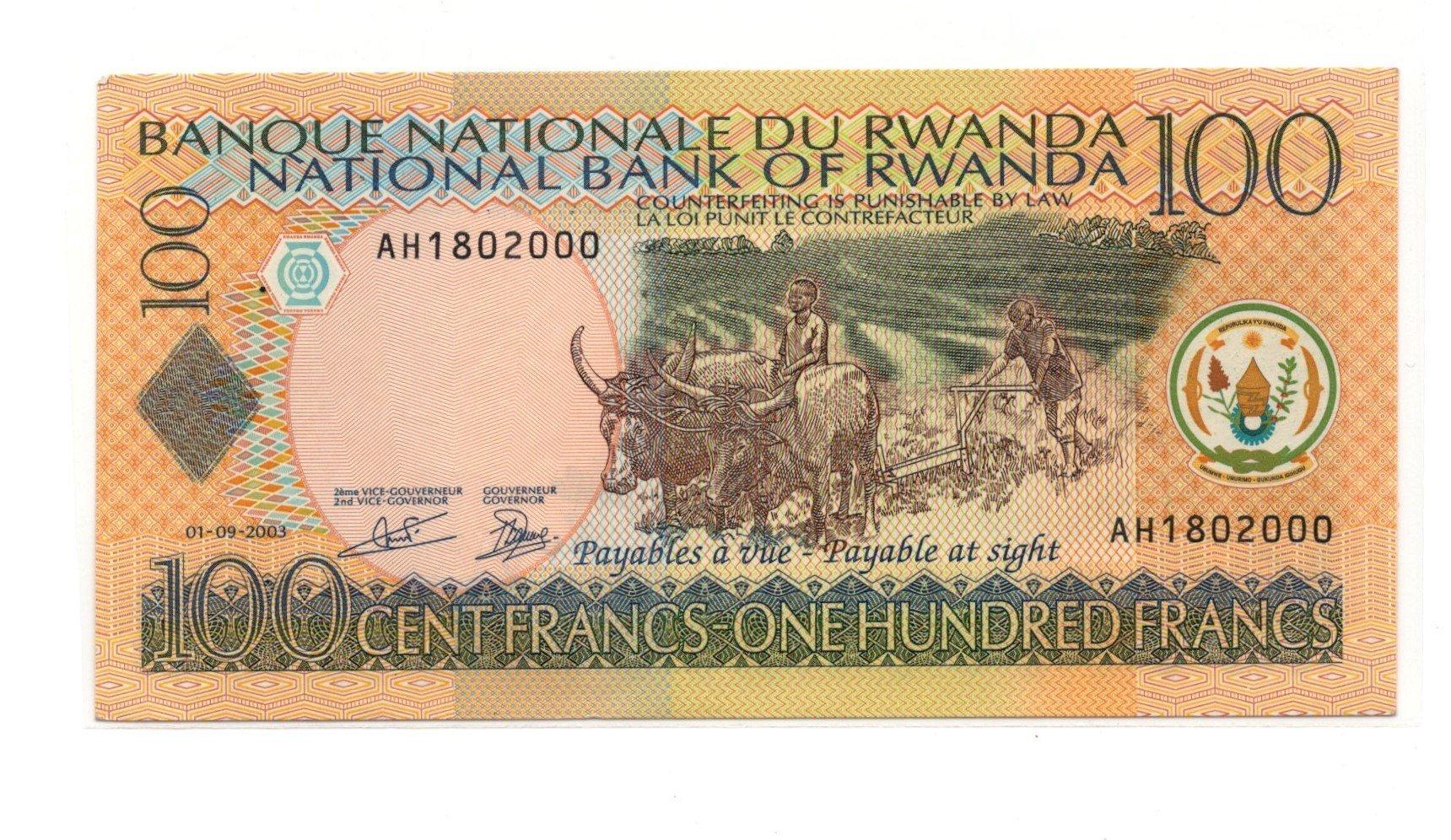 rwanda 100 francs