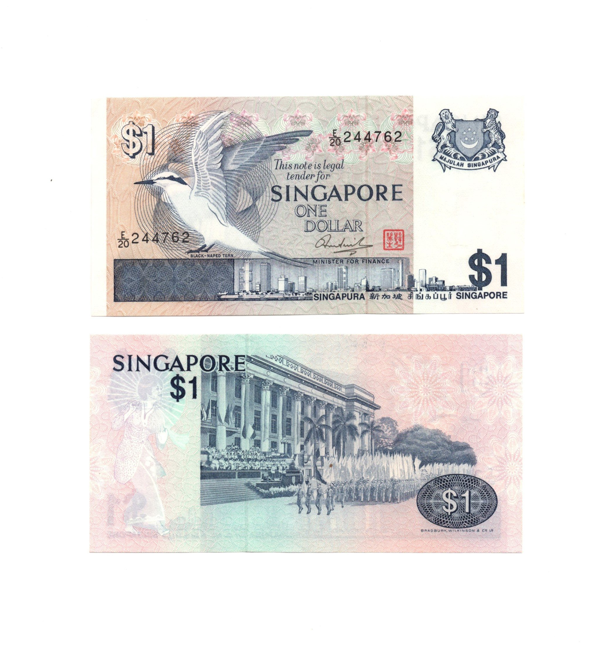 Singapore 1 dollar bird
