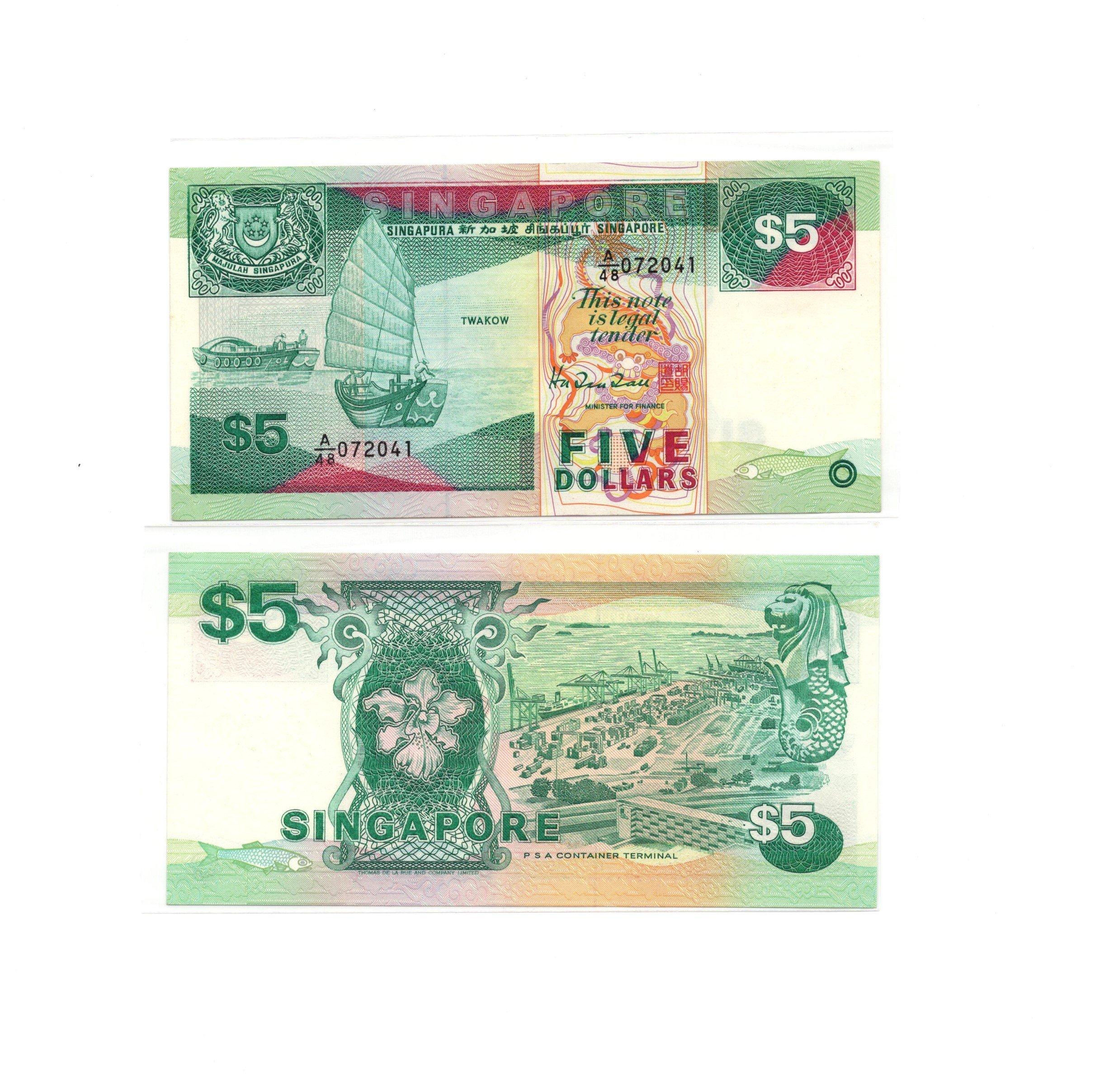 Singapore 5 dollars ship
