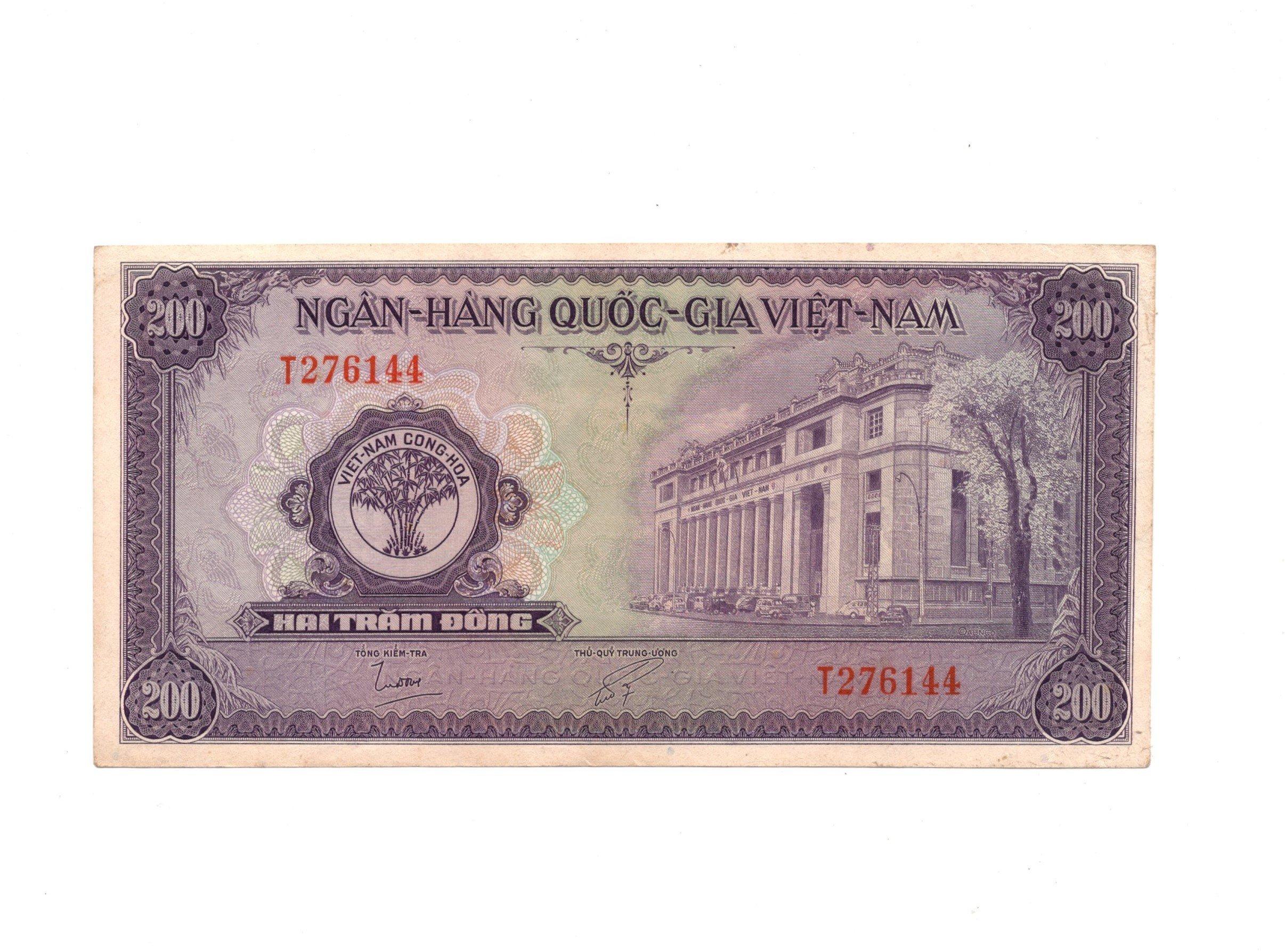 south vietnam 200 dong P9