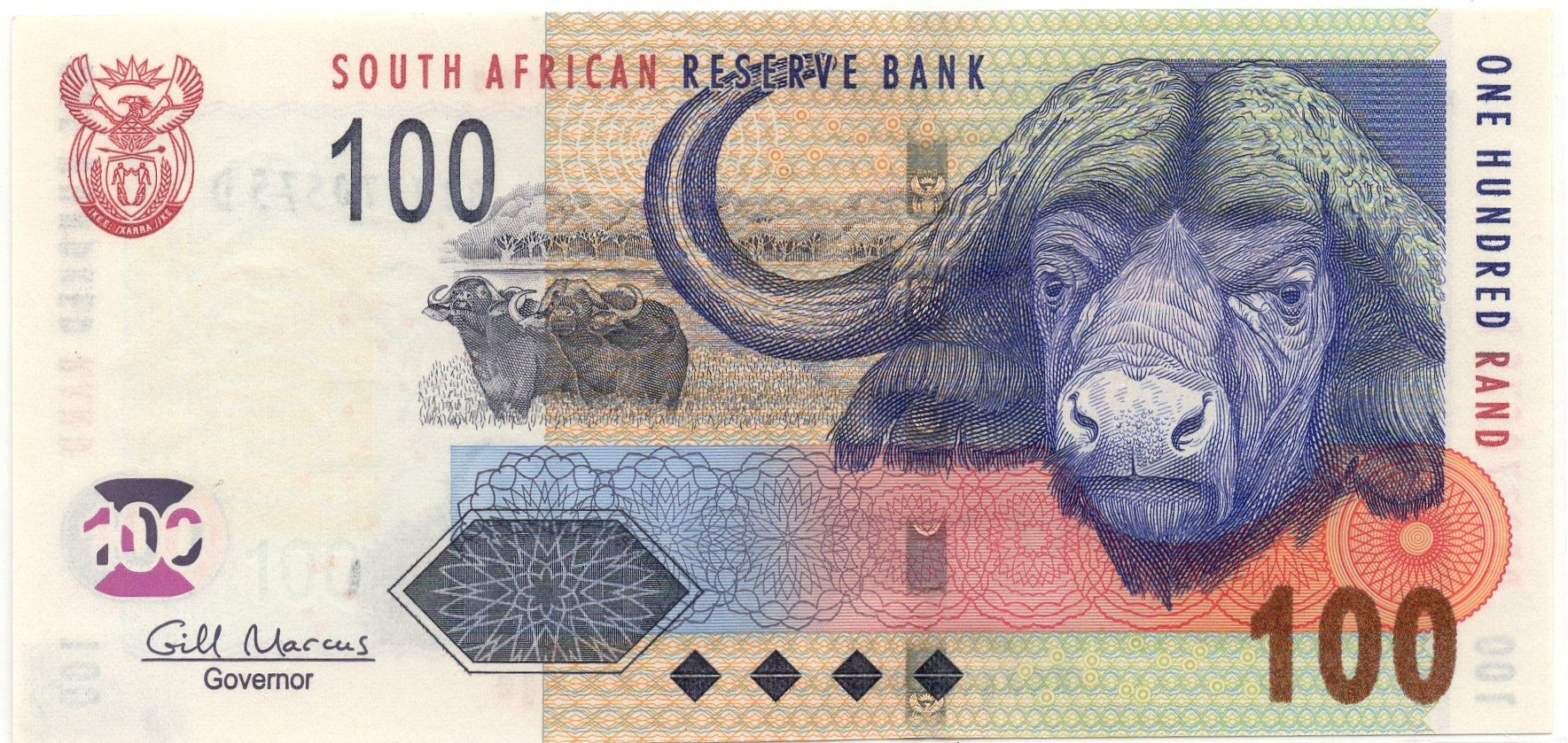 south africa 100 rands
