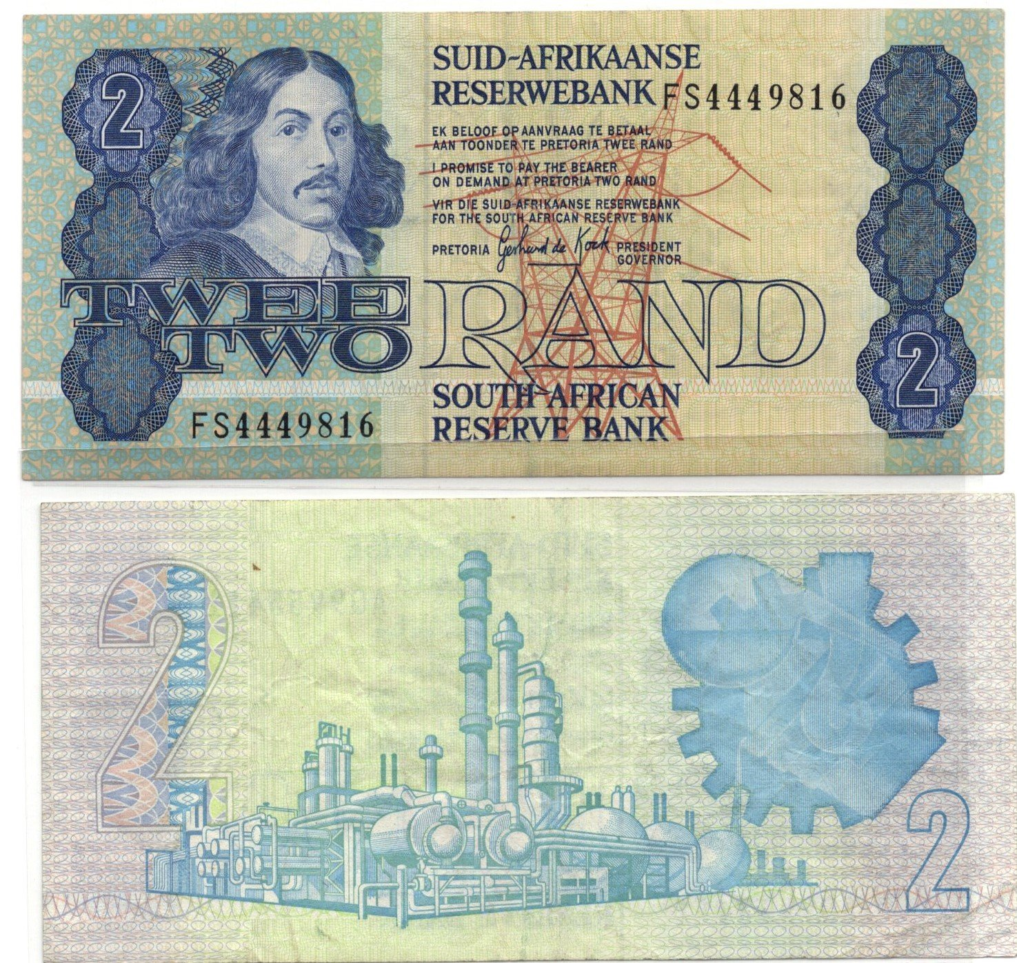 south africa 2 rands