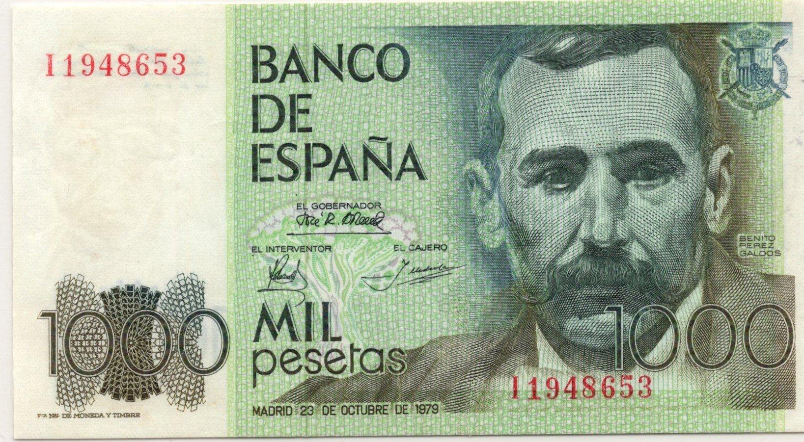 spain 100 pesetas 1979