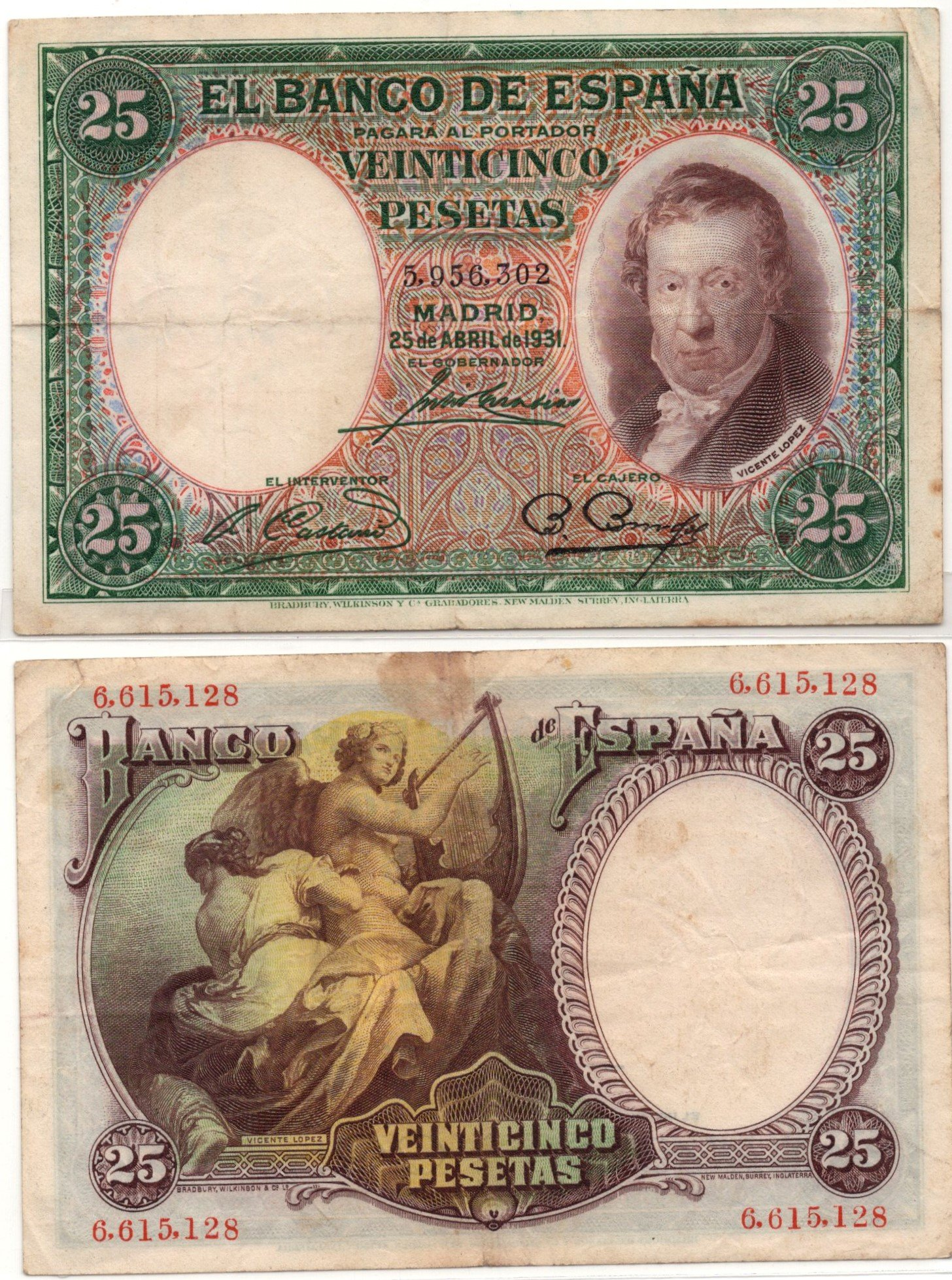 spain 245 pesetas 1931
