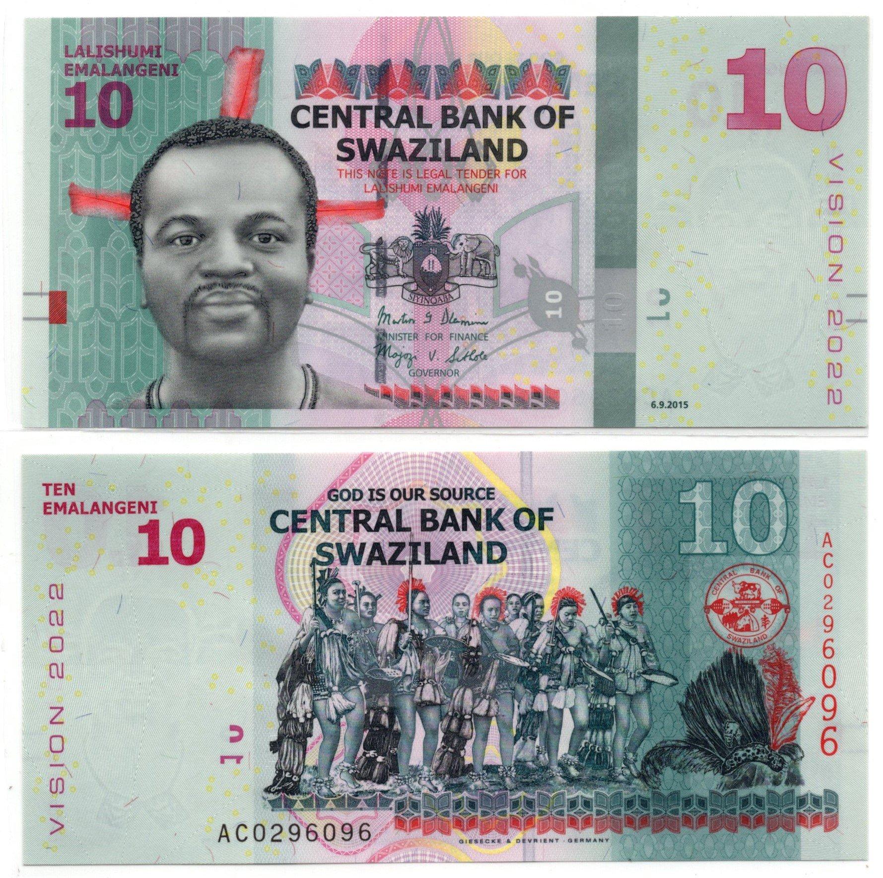swaziland 10 emalengeni