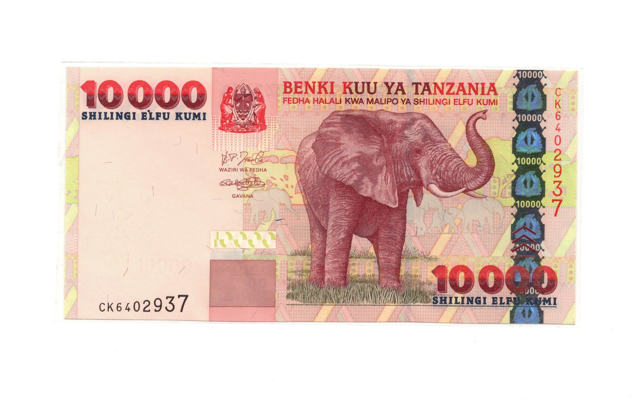 tanzania 10000 shillings