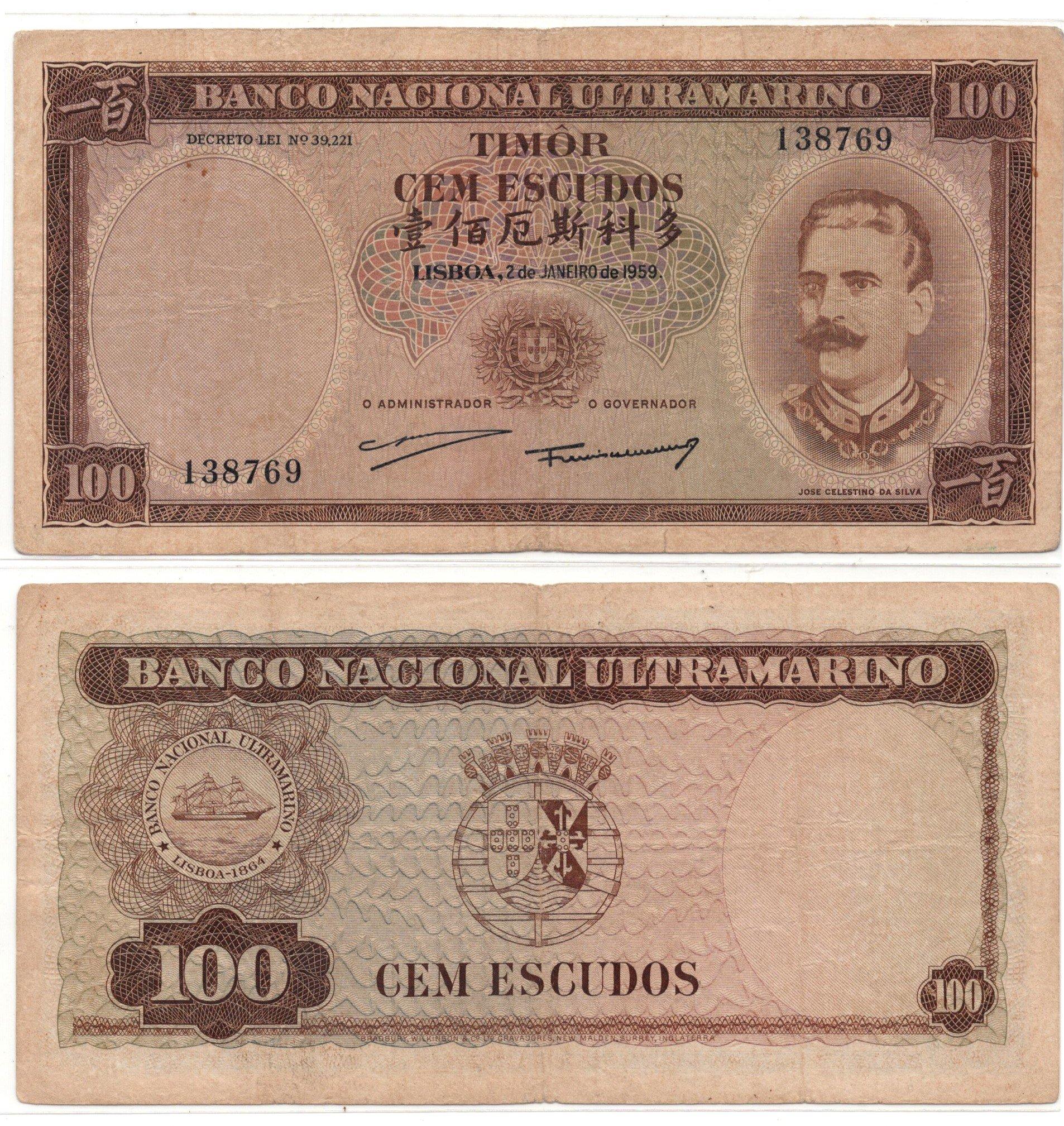 tiimor 100 escudos 1959