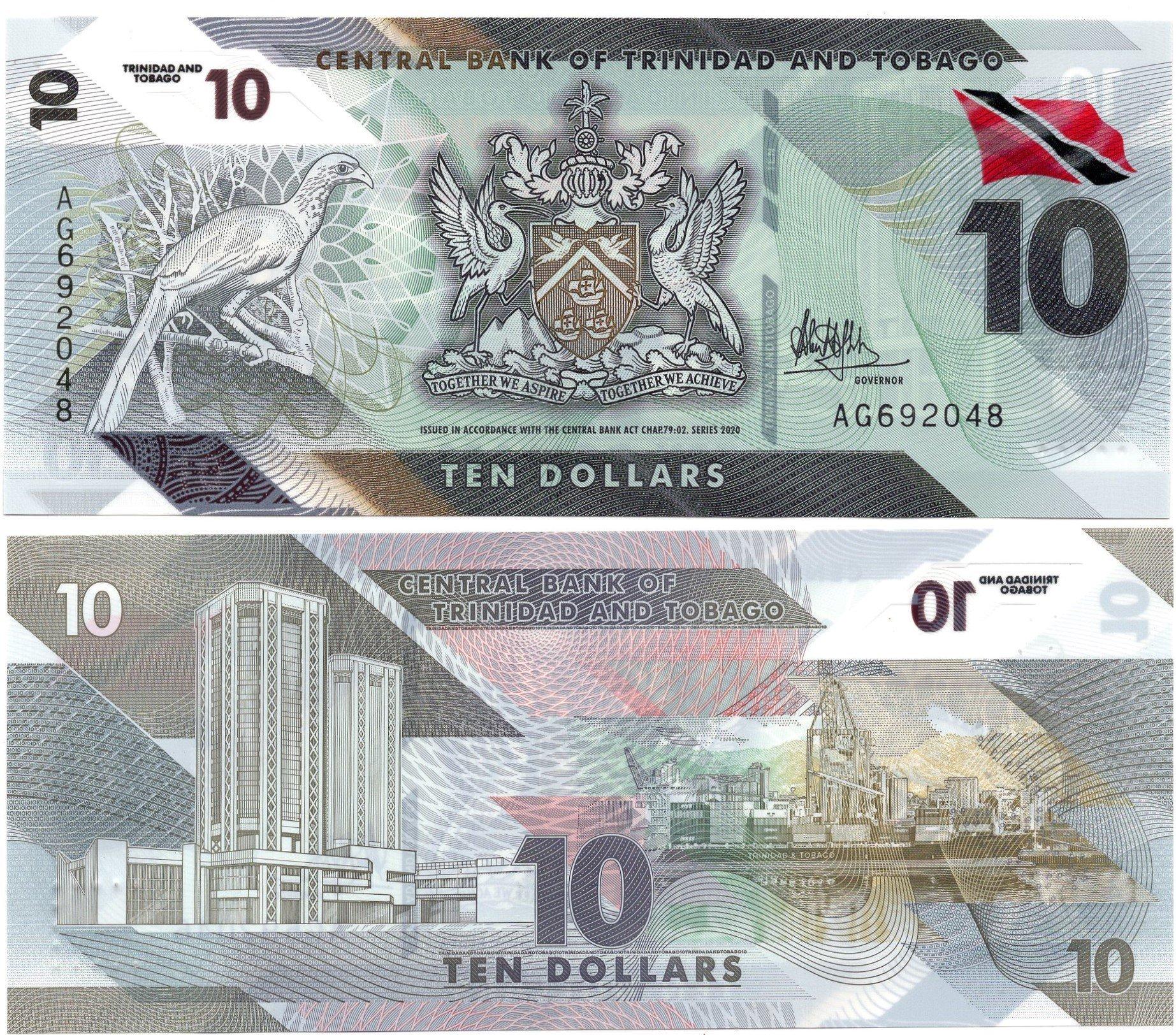 trinidad and tobago 10 dollars