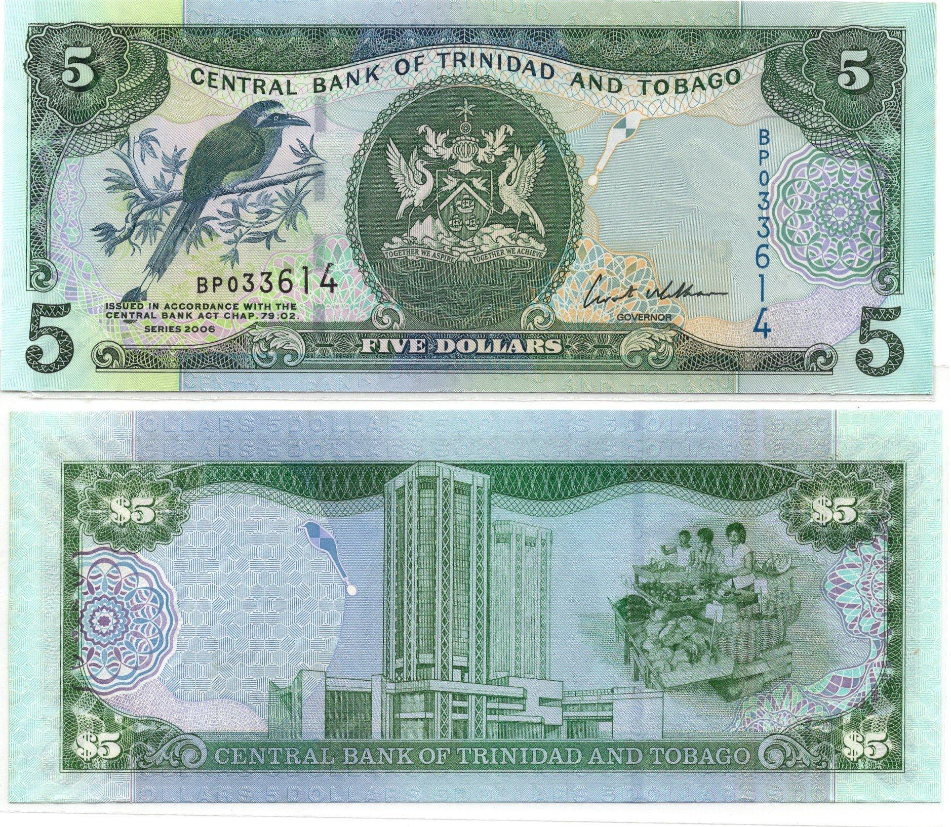 trinidad and tobago 5 dollars