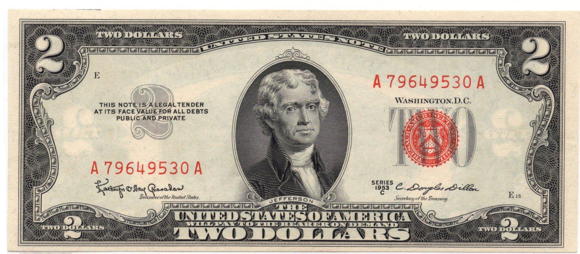 US 2 dollars 1953