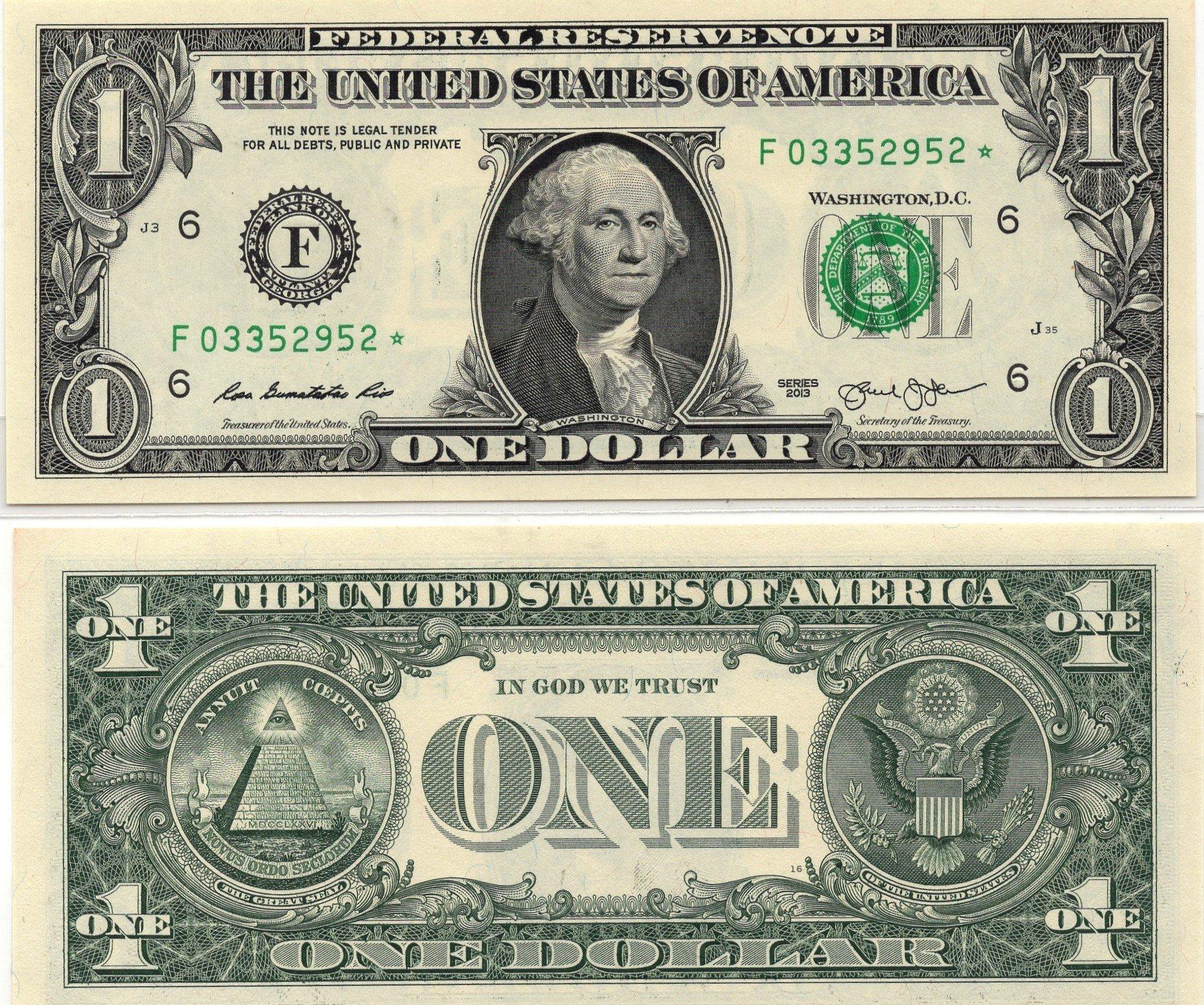 USA 1 dollar star