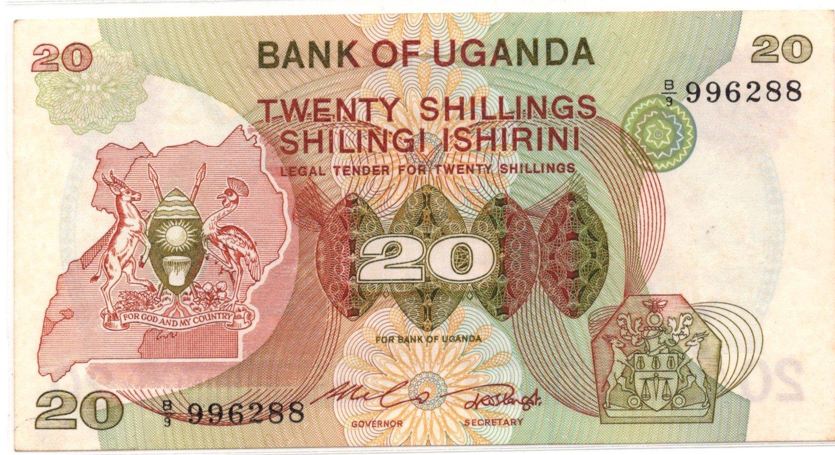 uganda 20 shillings P17