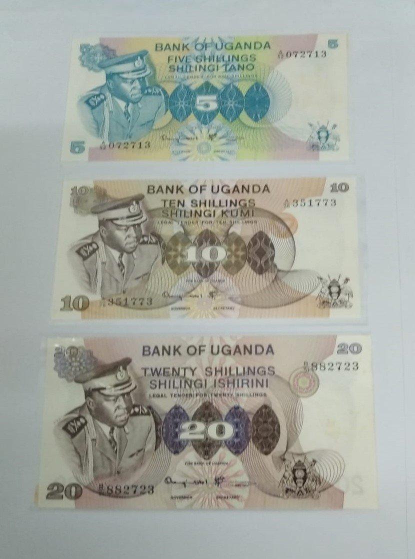 Uganda ada amin banknote set for sale