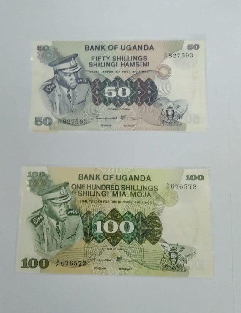 Uganda ad amain banknote set for sale