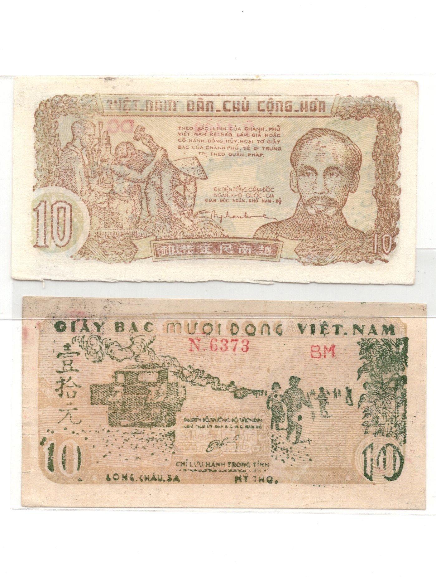 vietnam 10  dong 1952