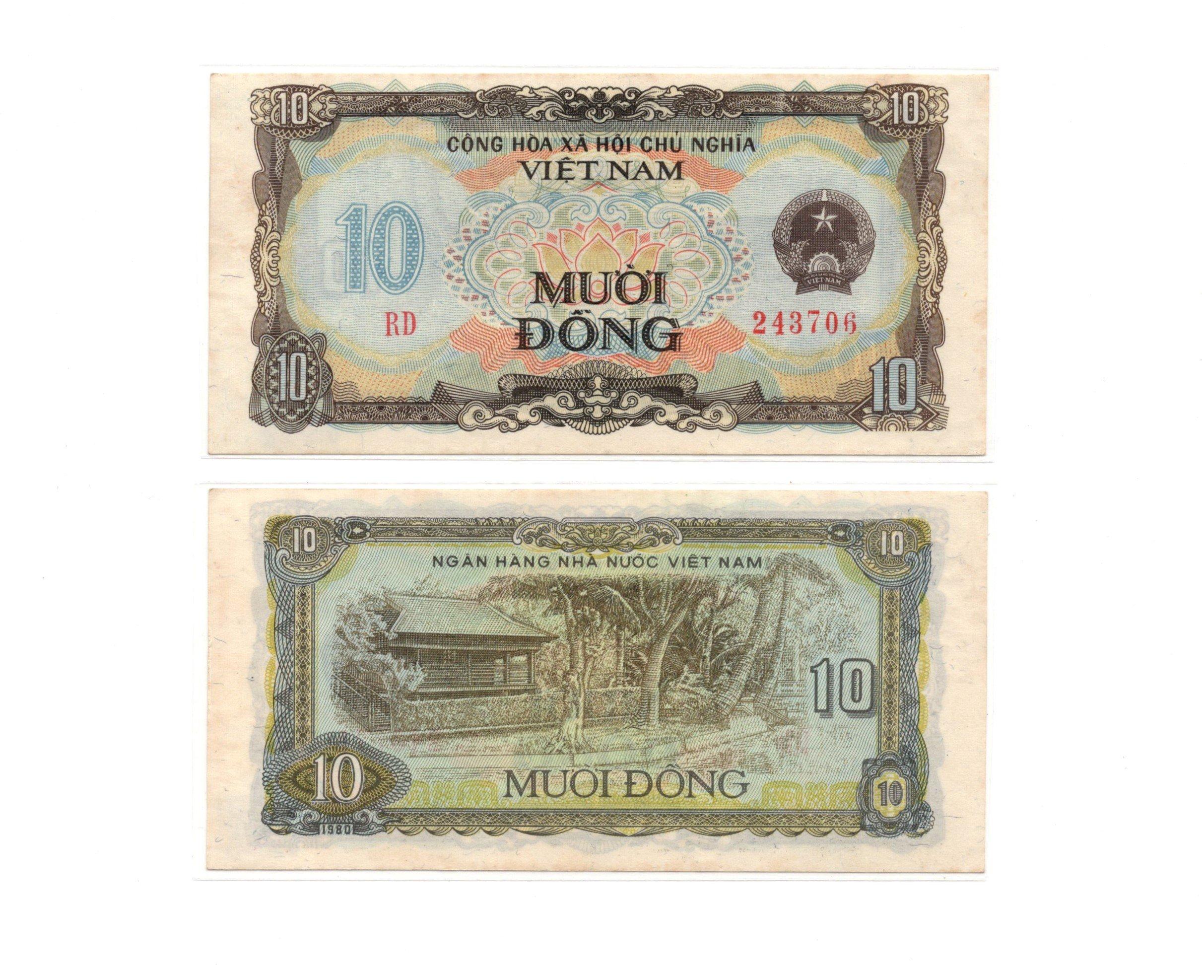 vietnam 10 dong 1980