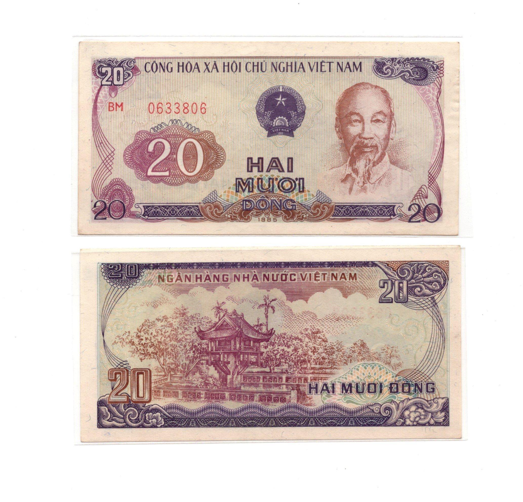 vietnam 20 dong 1985