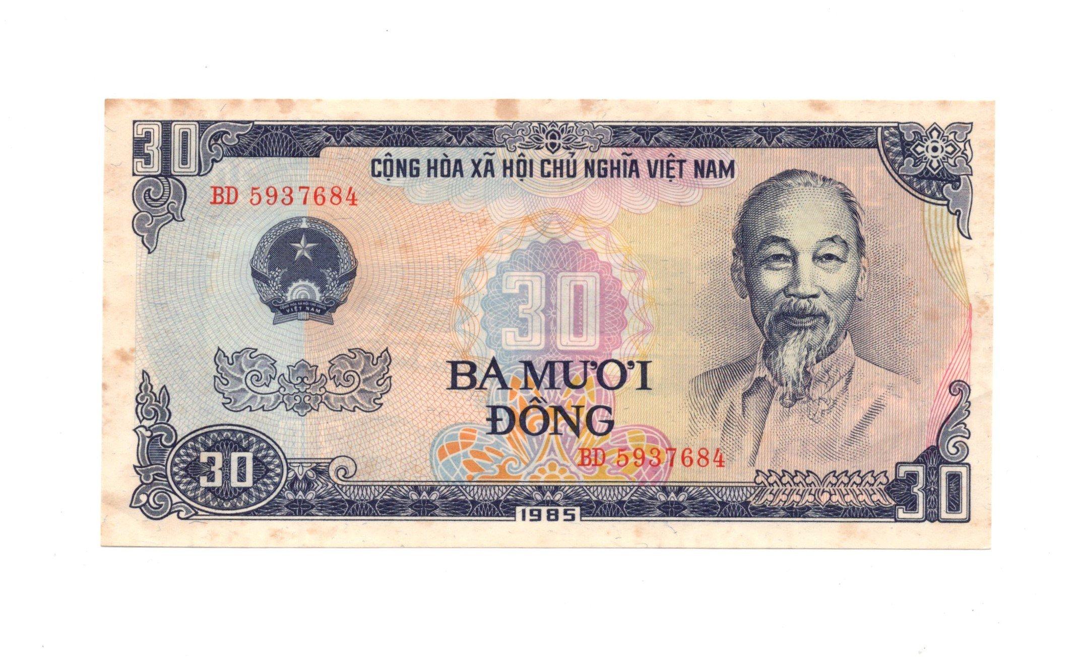 vietnam 30 dong 1985