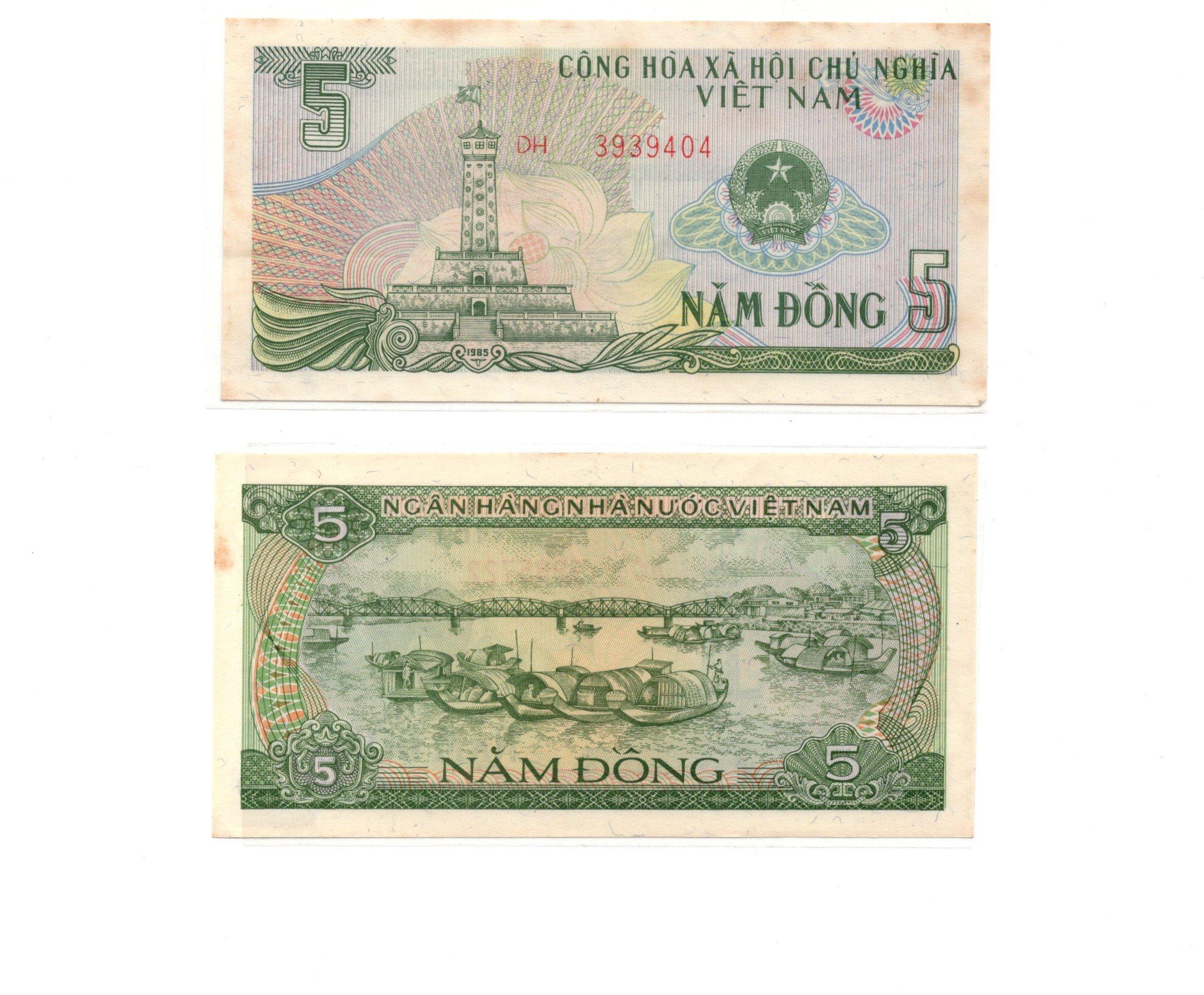 vietnam 5 dong 1985