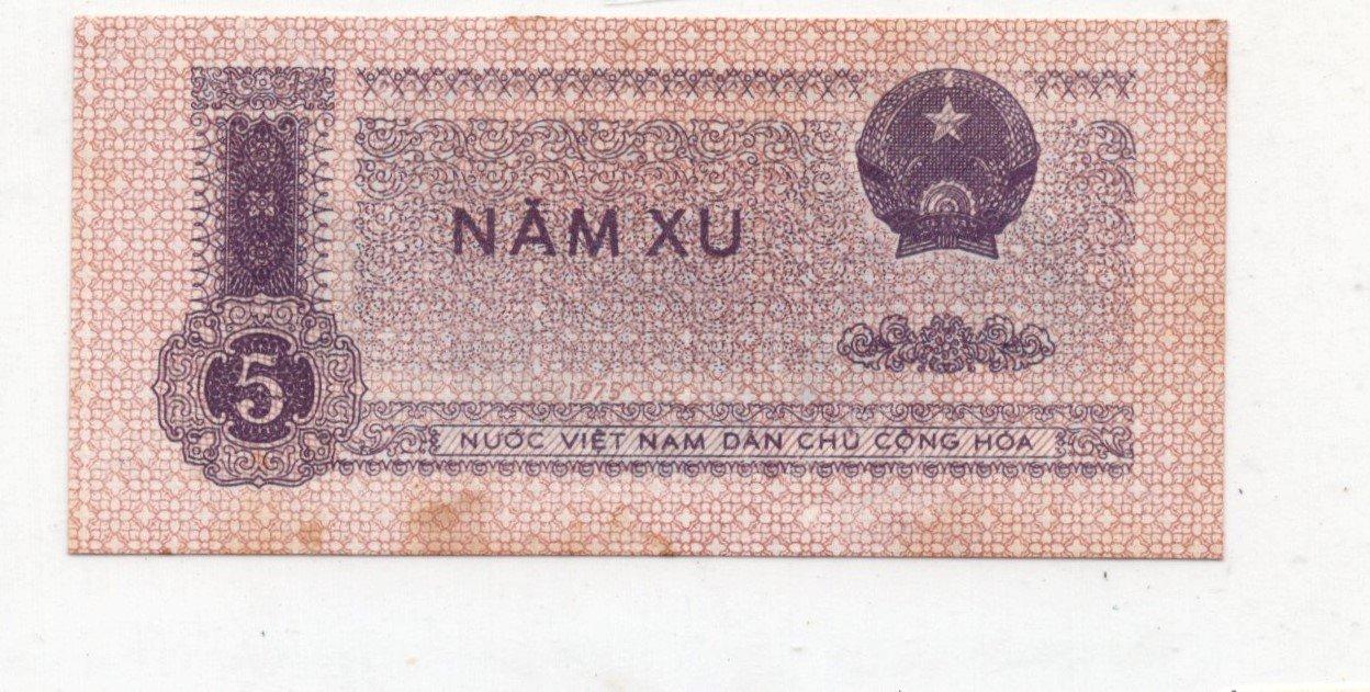 vietnam 5 xu 1964-75