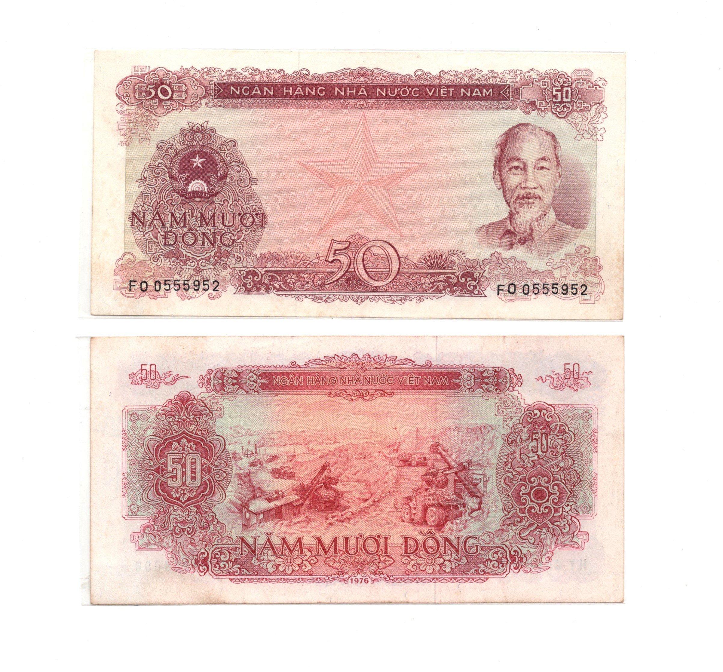 vietnam 50 dong 1976