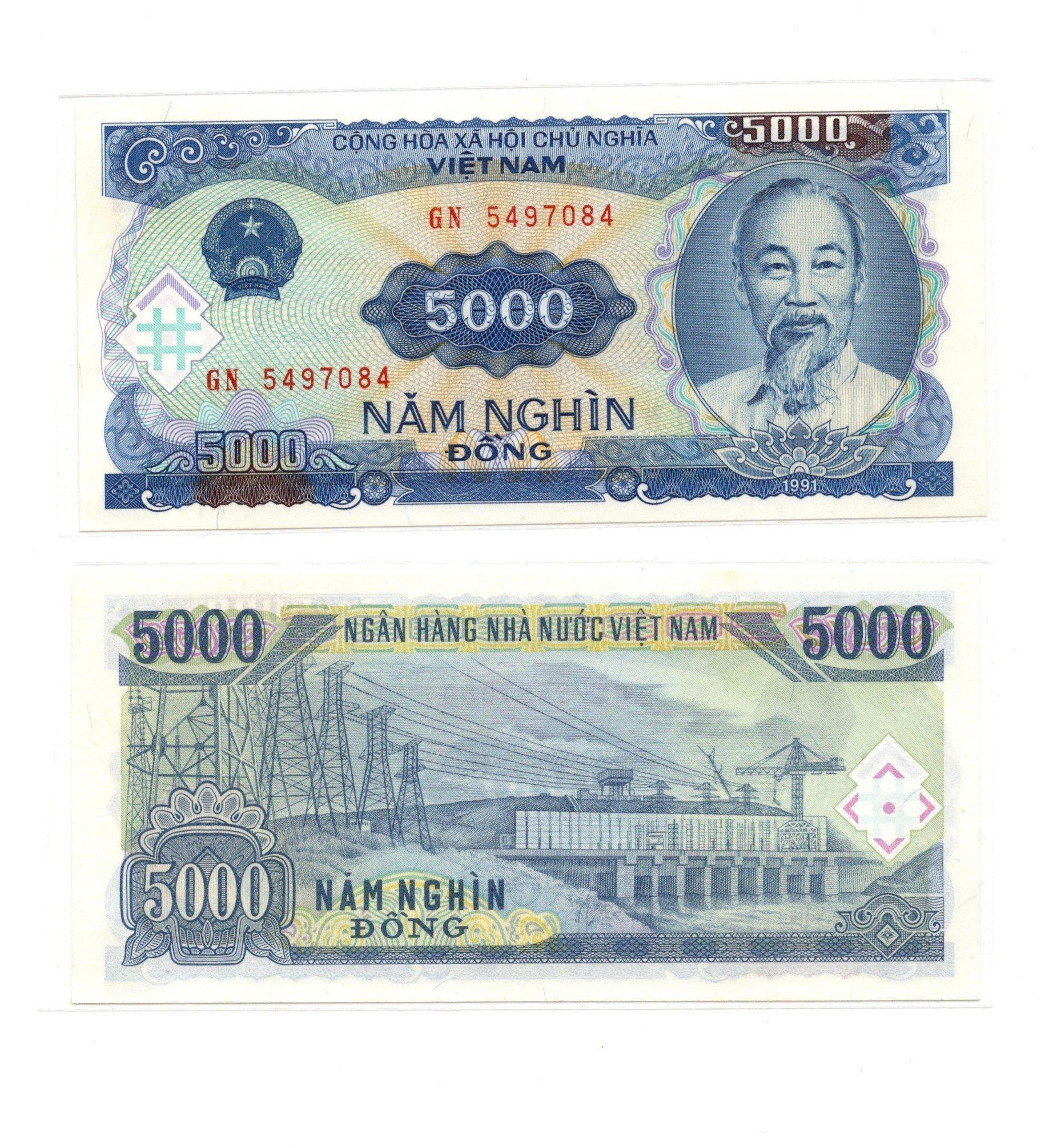 vietnam 5000 dong 1991