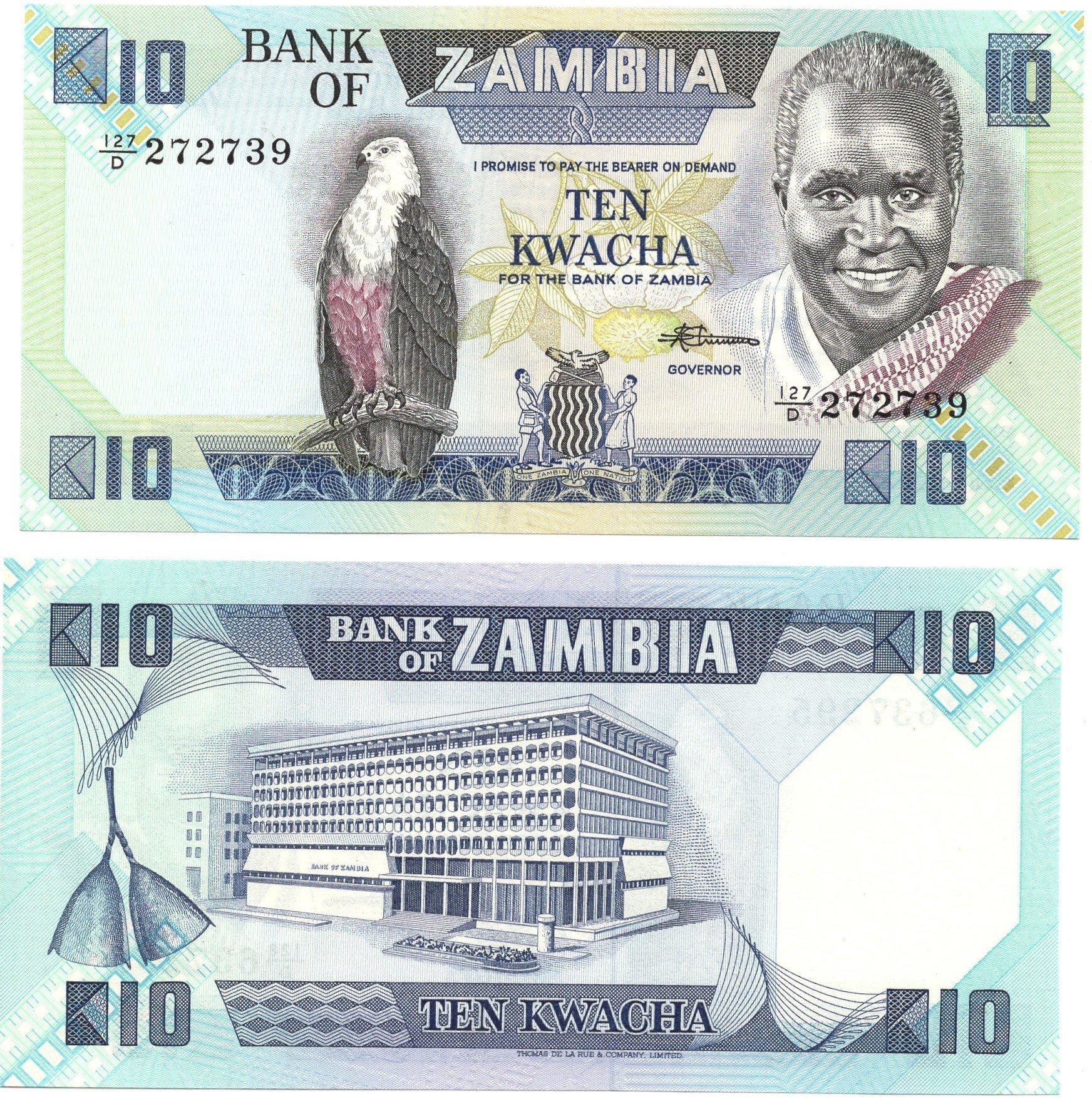 Zambia 10 kwacha banknote for sale