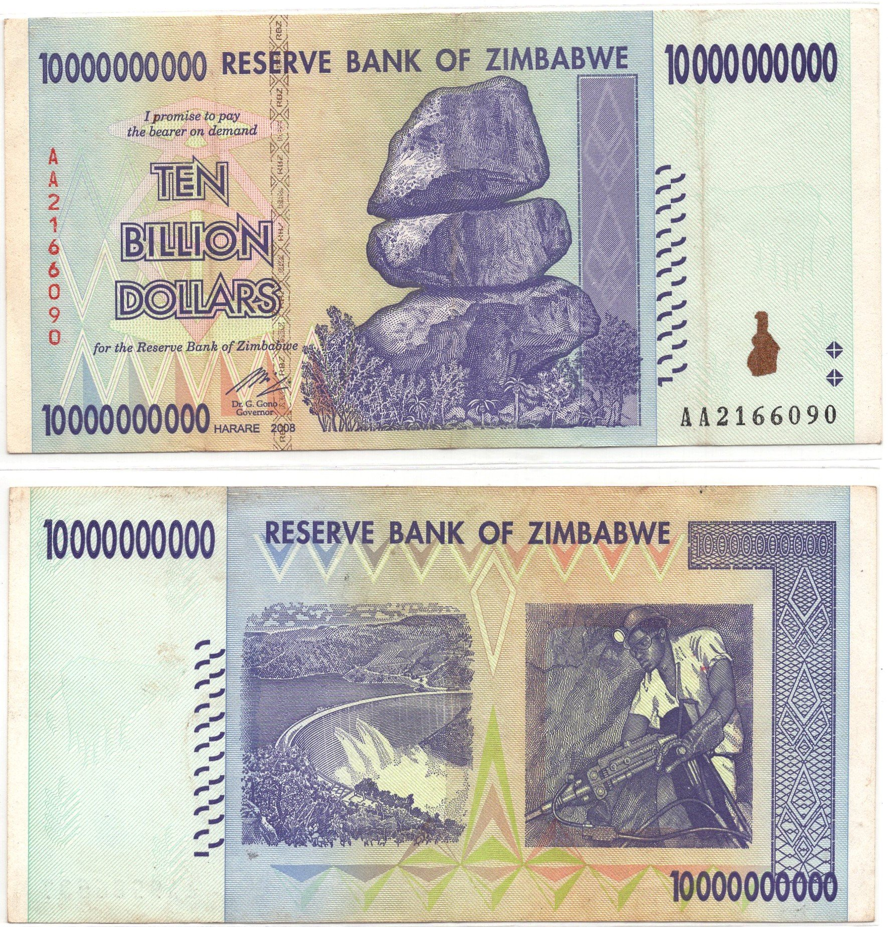 zimbabwe 10billion 2008