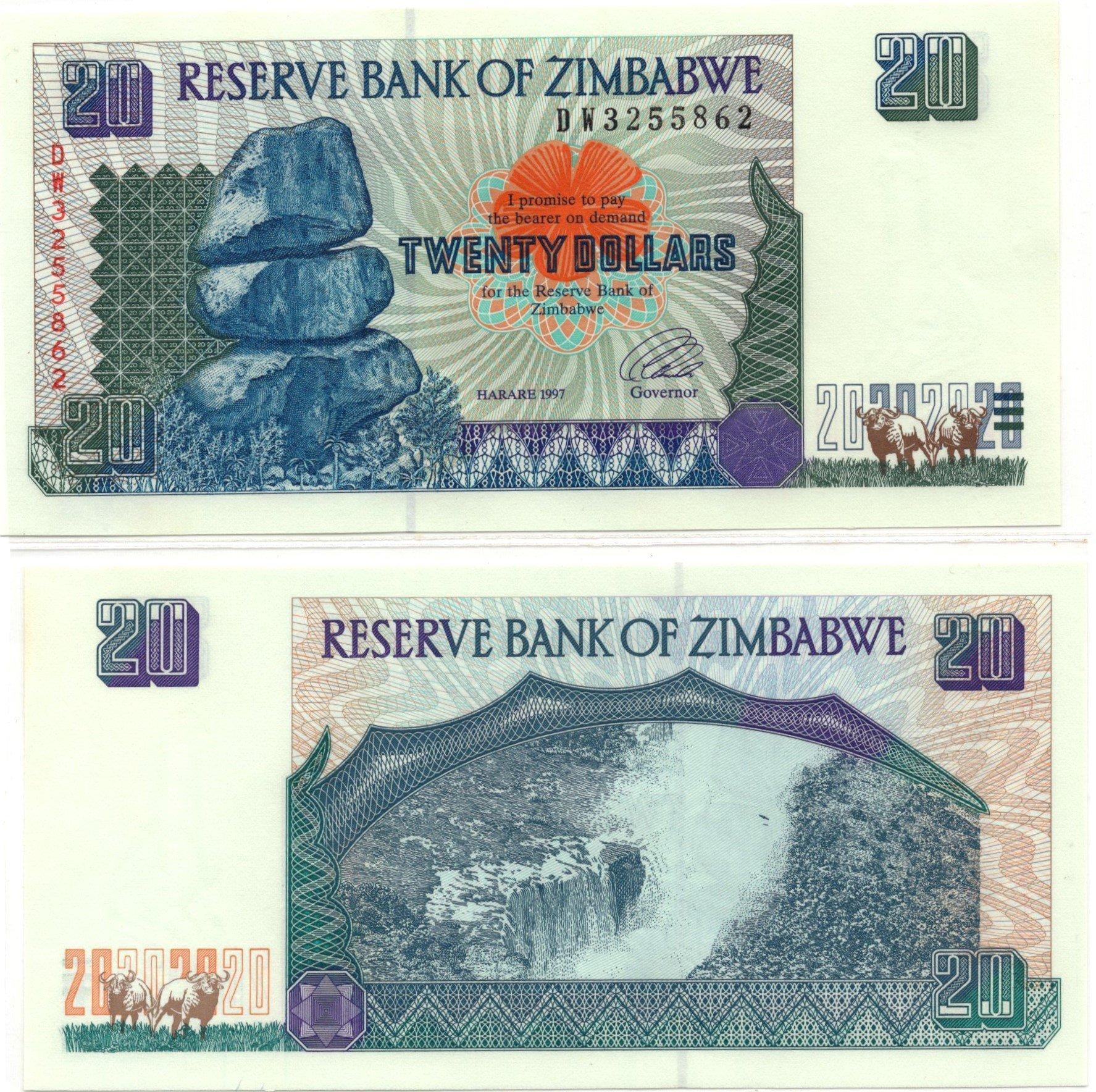 Zimbabwe 20 dollars 1997 banknote7