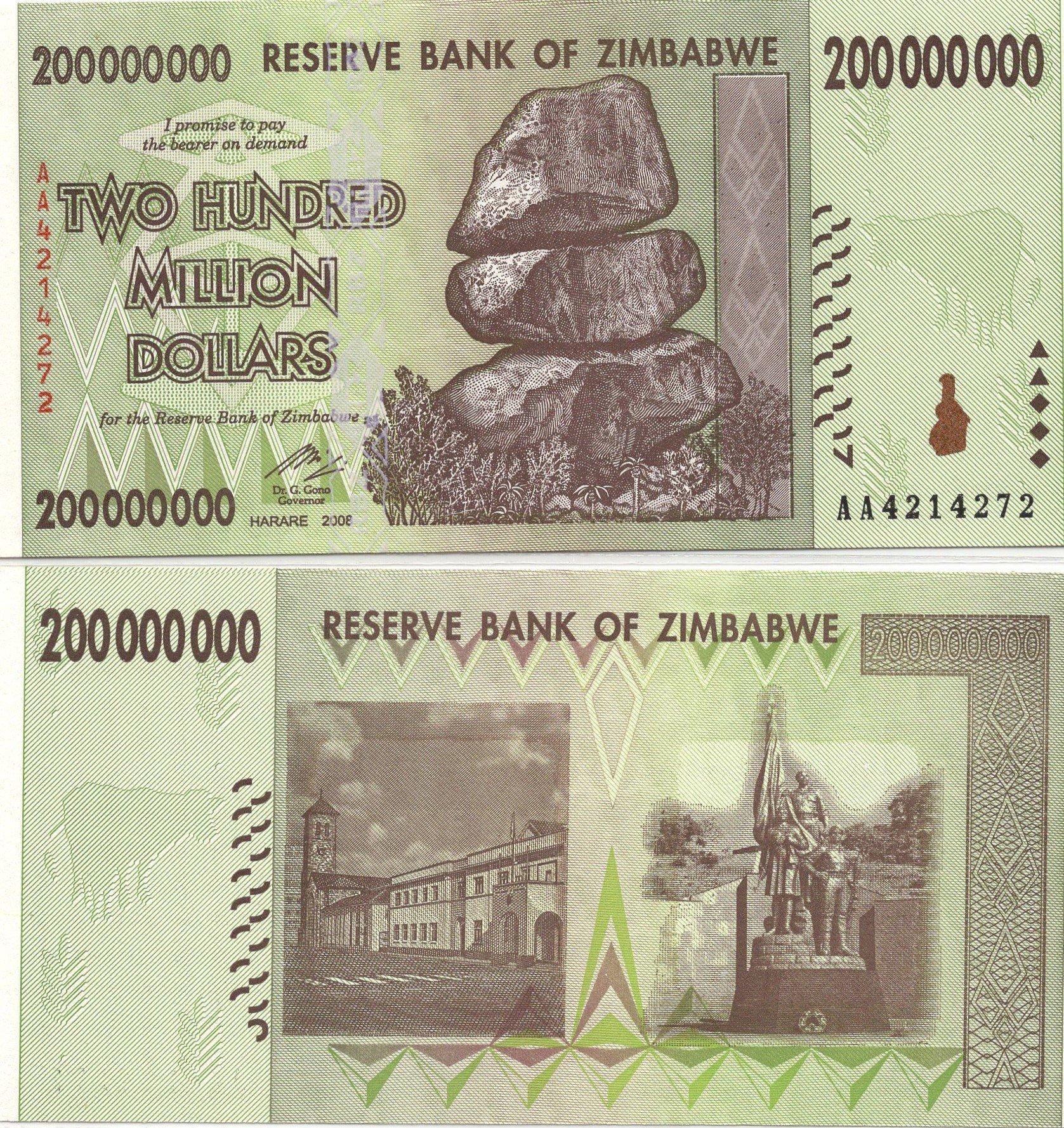 zimbabwe 200million 2008