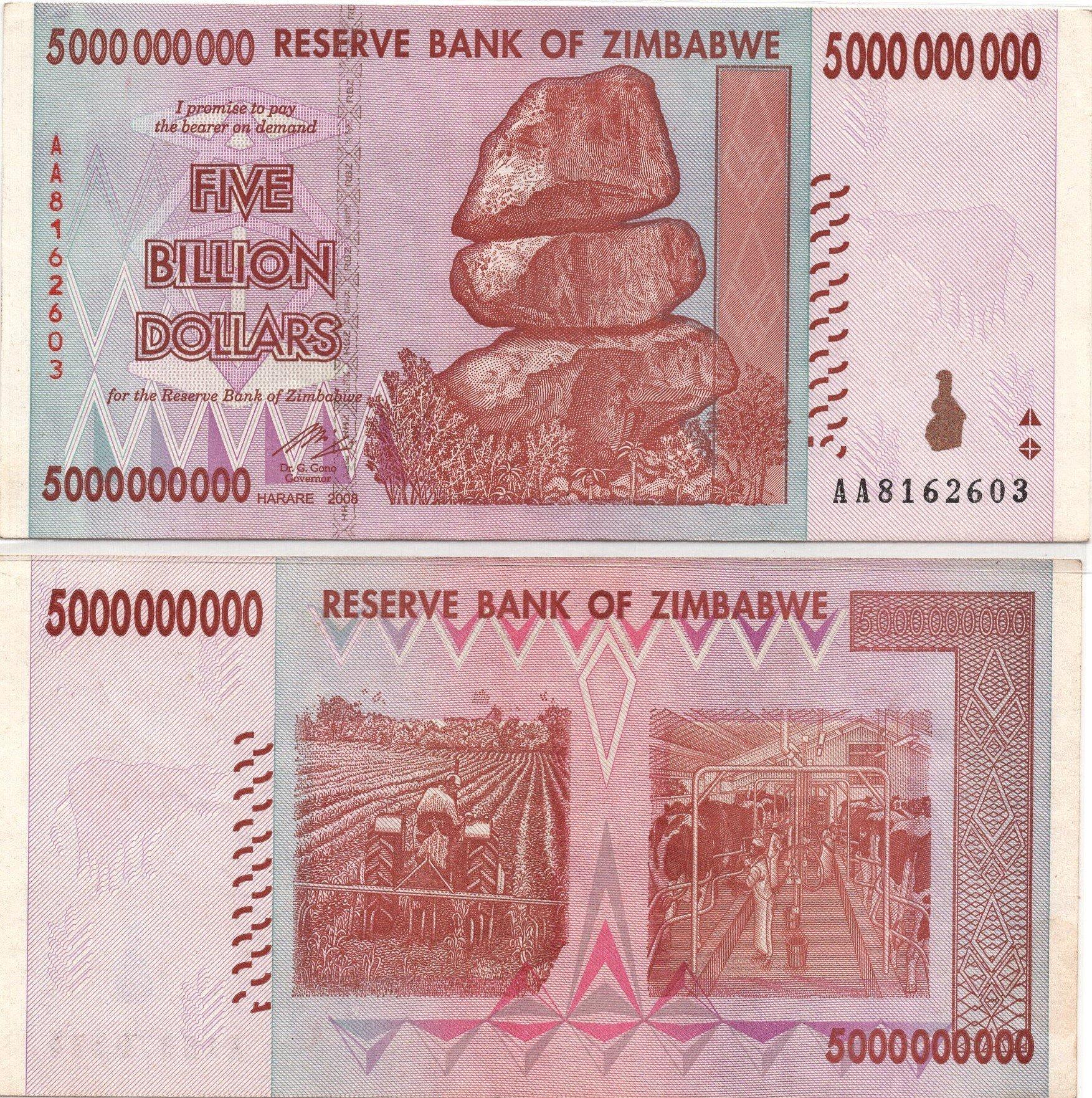 zimbabwe 5 billion 2008