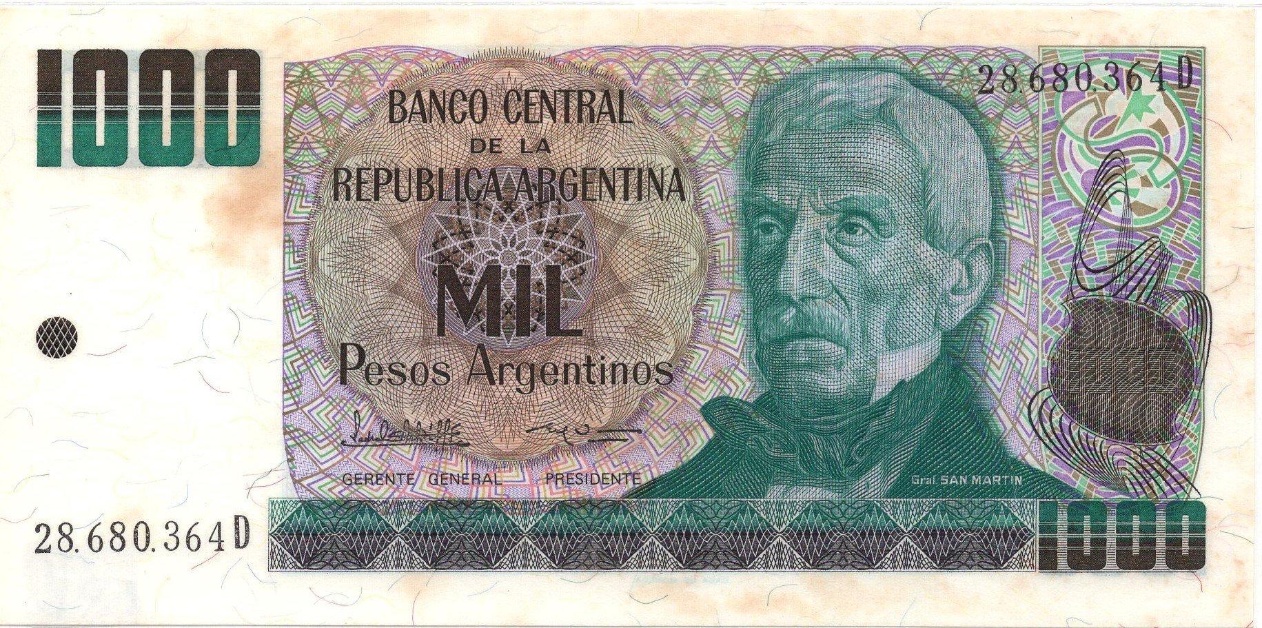 argentia 1000 pesos P317