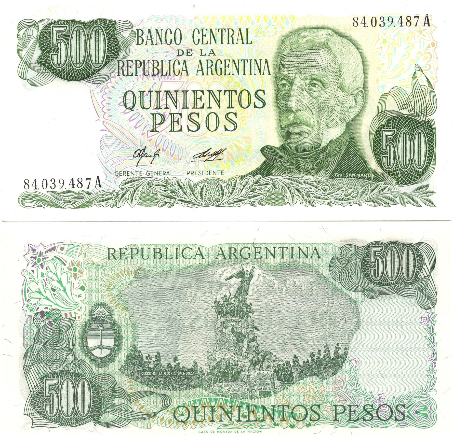 argentina 500 pesos