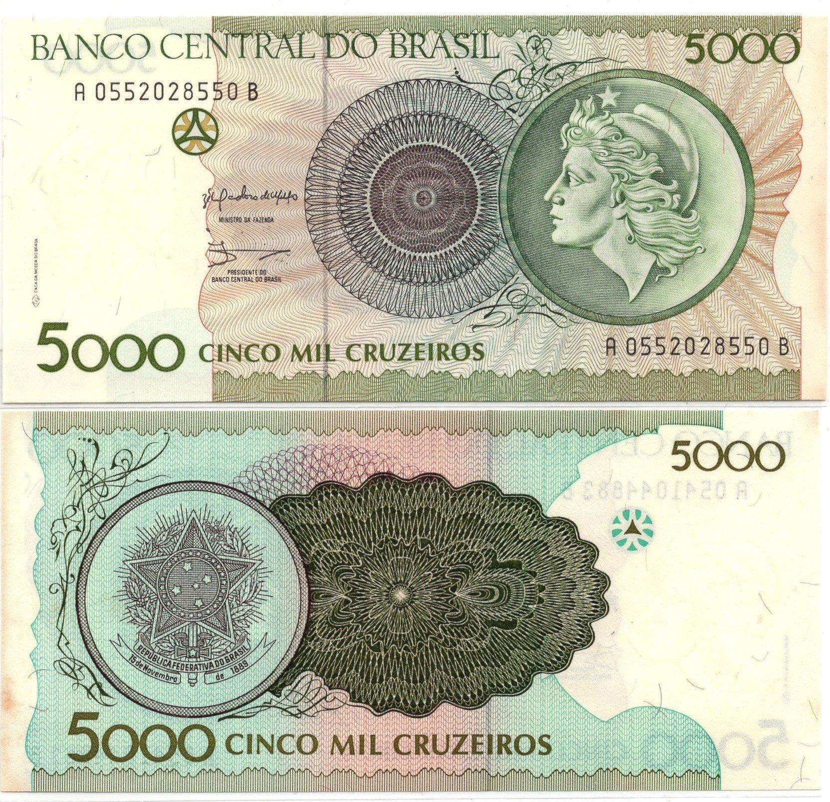 brazil 5000 cruzeiros