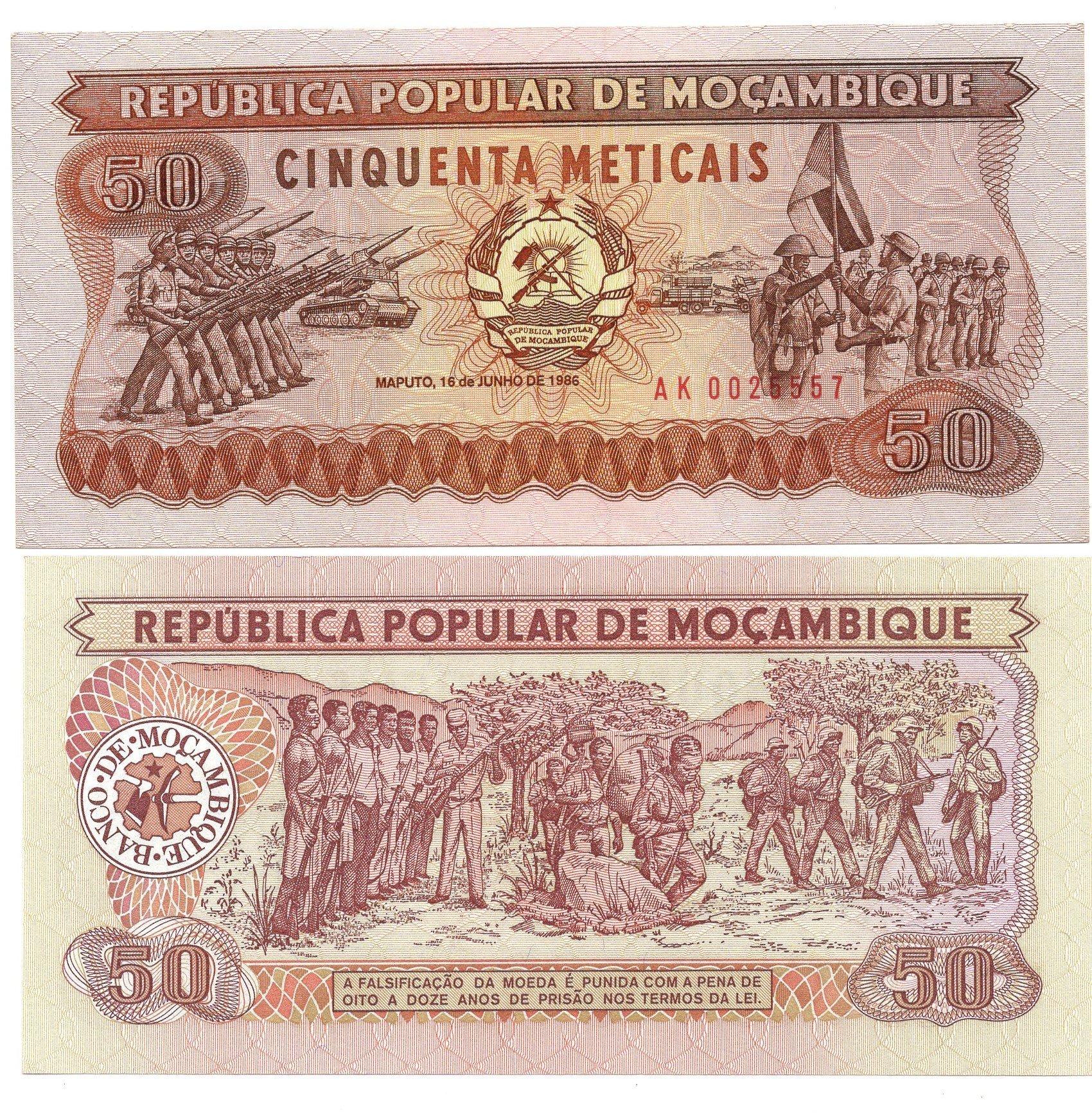 mozamque 500 meticais 1986