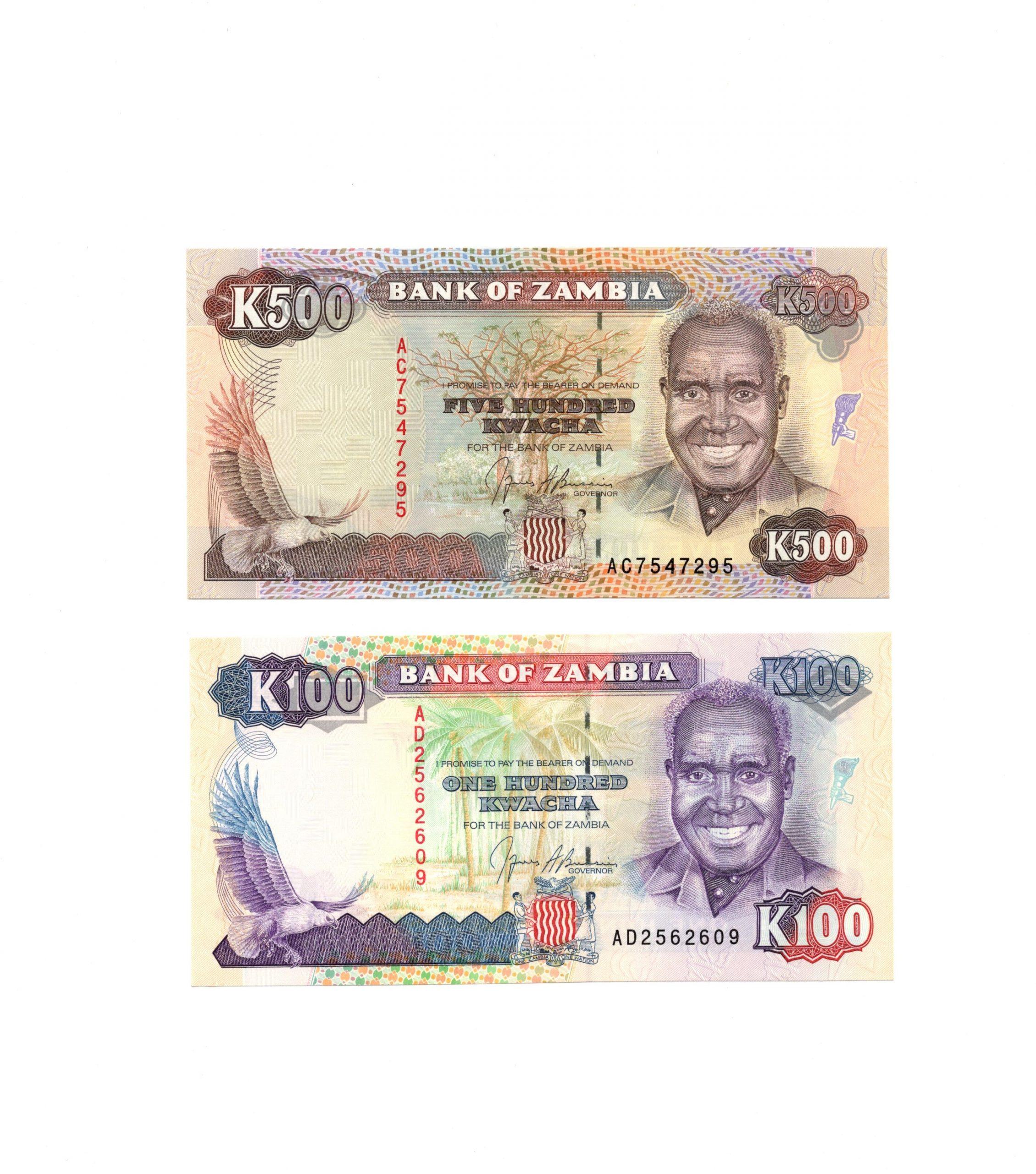 zambia 100-500 set