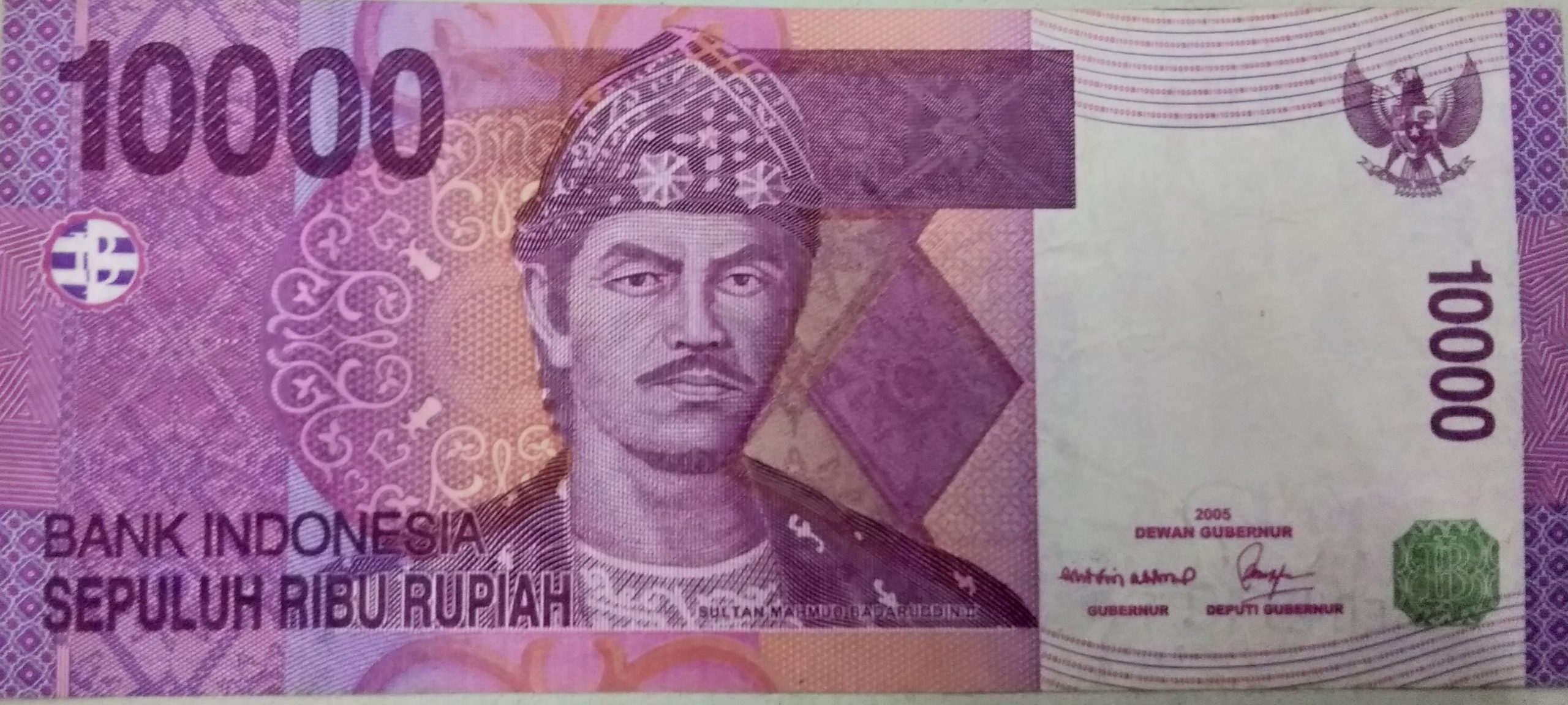 Indonesia 10000 rupiah 2005 banknote for sale