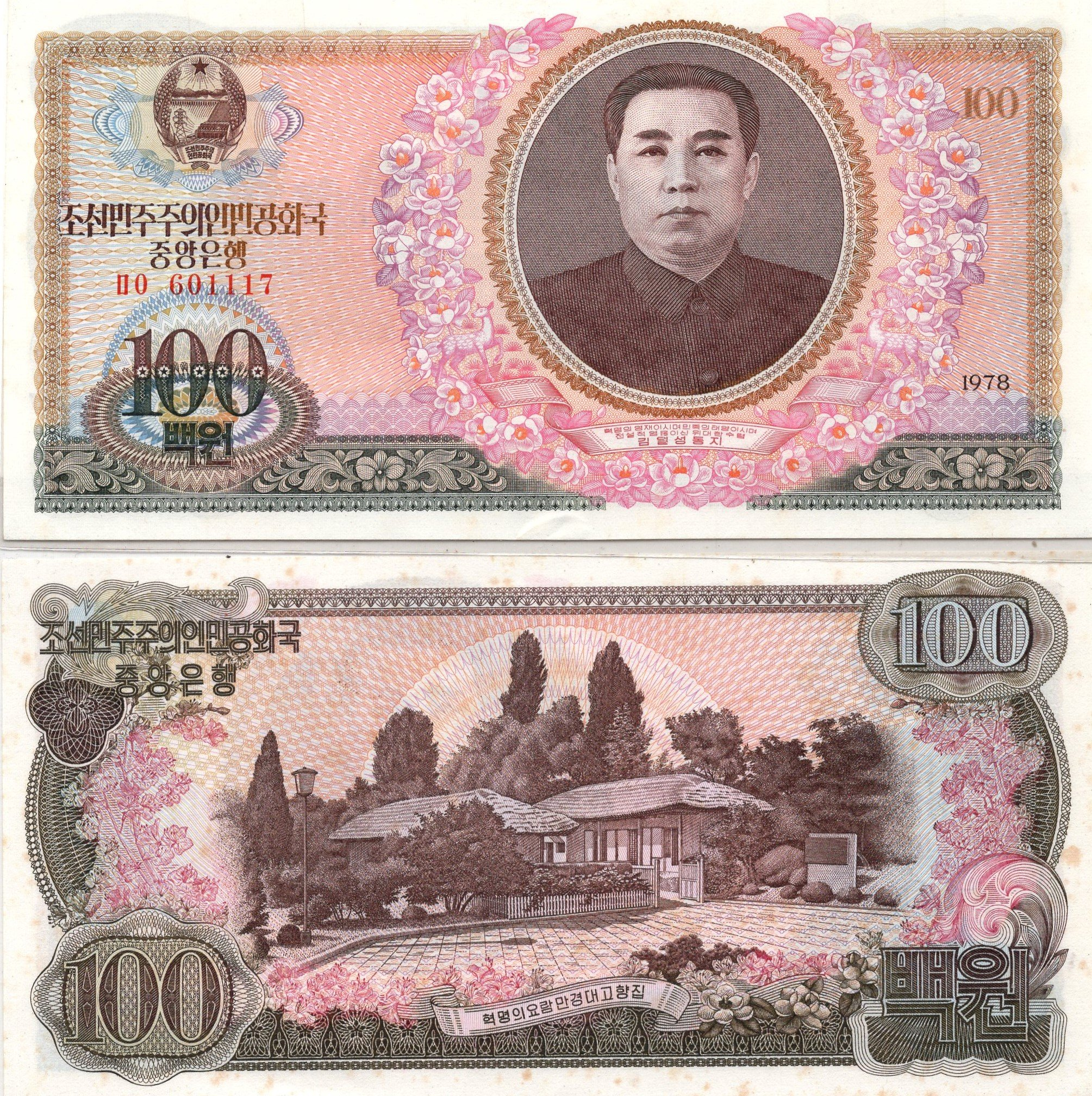 Nkora 100 won banknote for sale